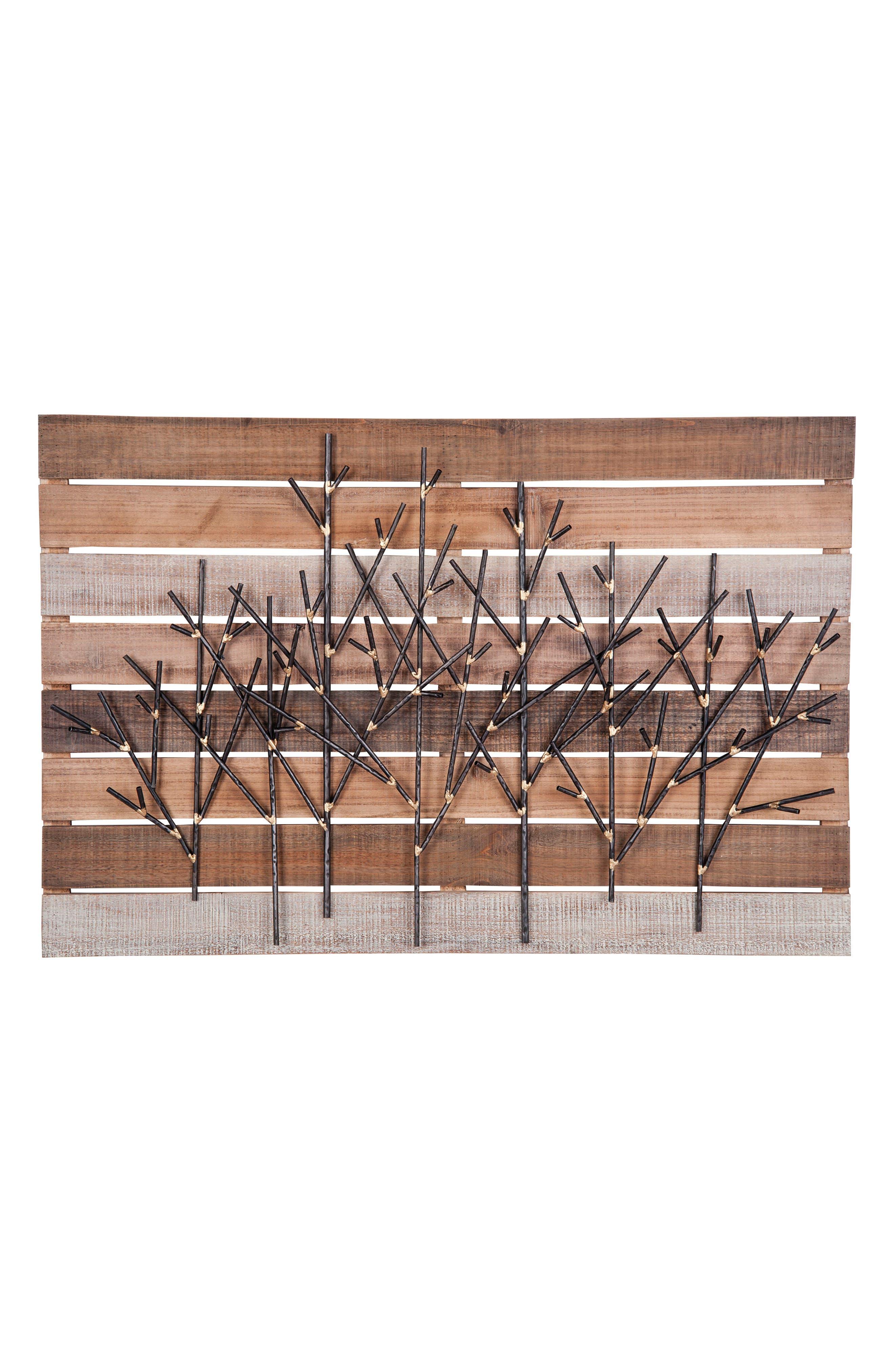 Trees Wall Art,                             Main thumbnail 1, color,                             Metal/ Wood