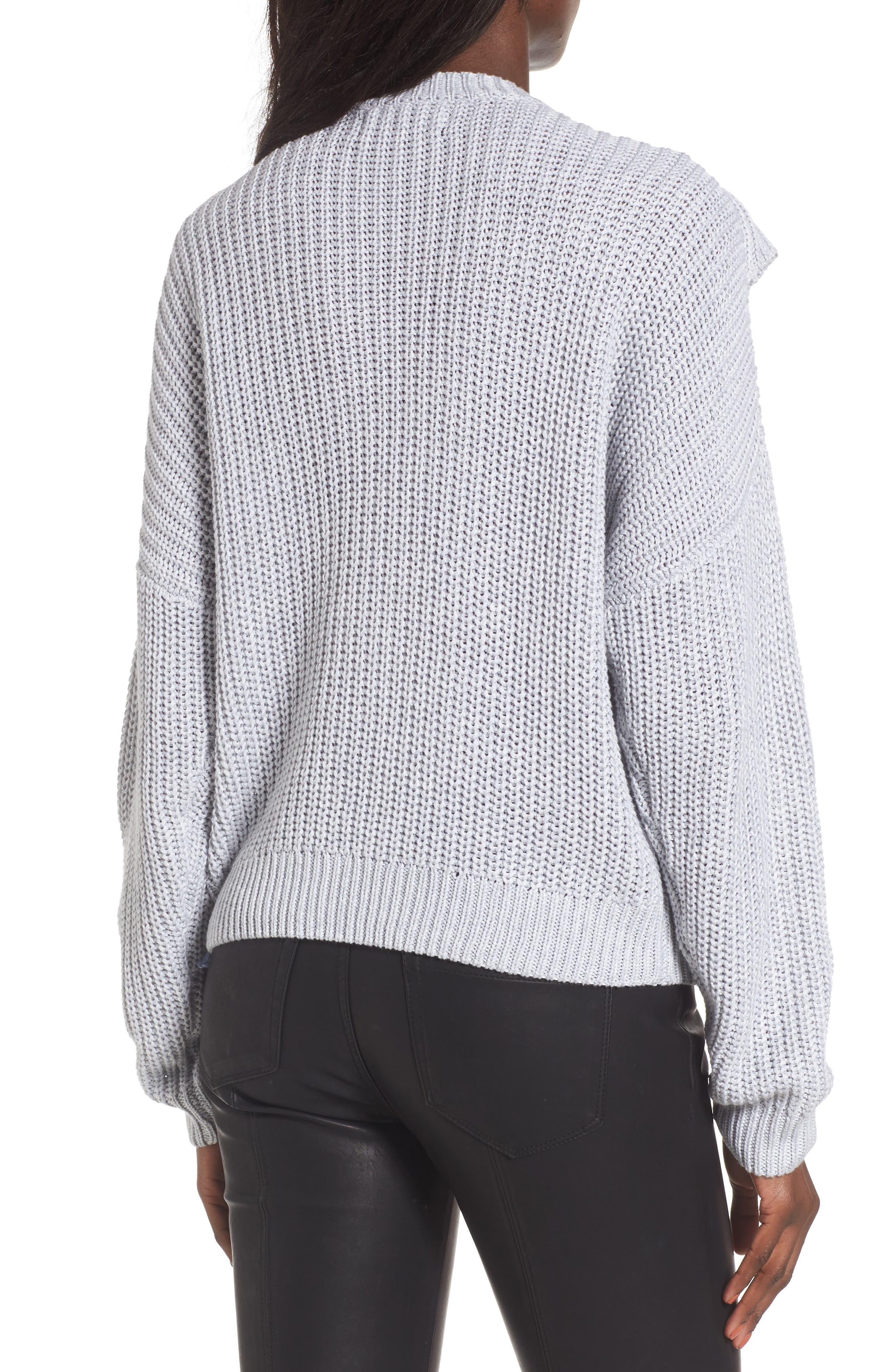 Alternate Image 2  - BLANKNYC Ruffle Yoke Sweater