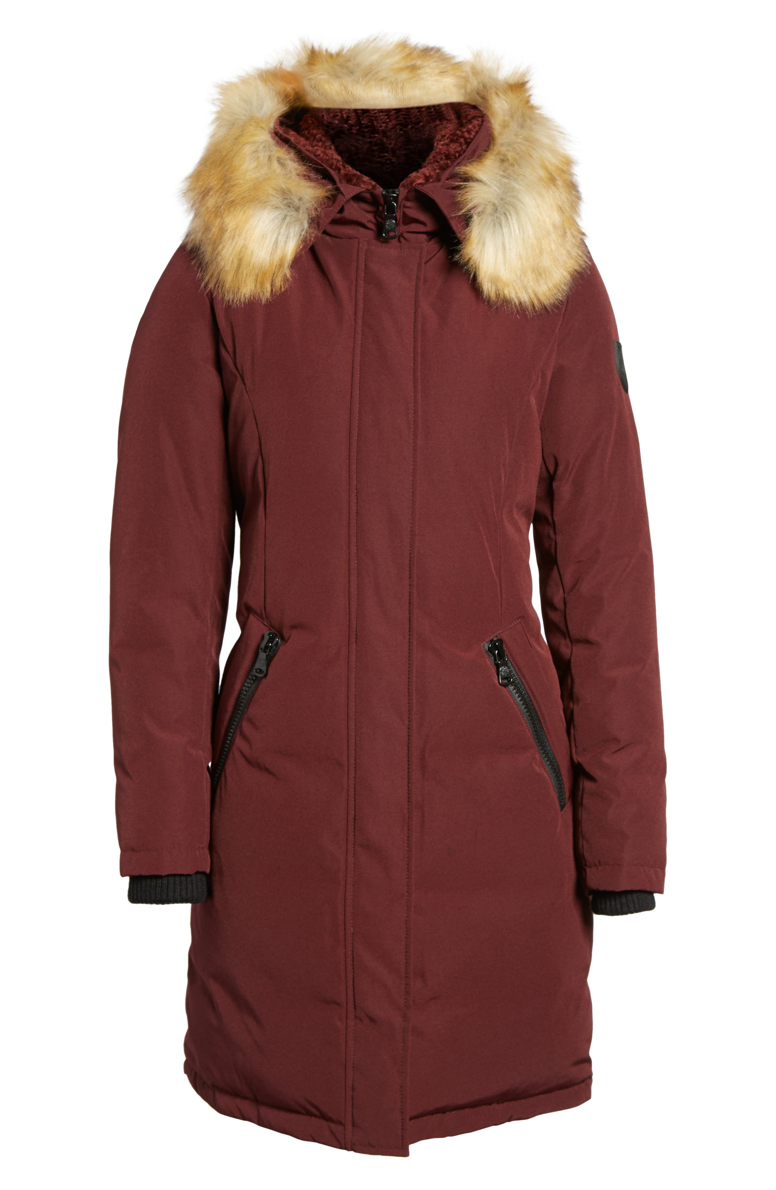 Alternate Image 6  - Vince Camuto Down & Feather Fill Parka with Faux Fur Trim