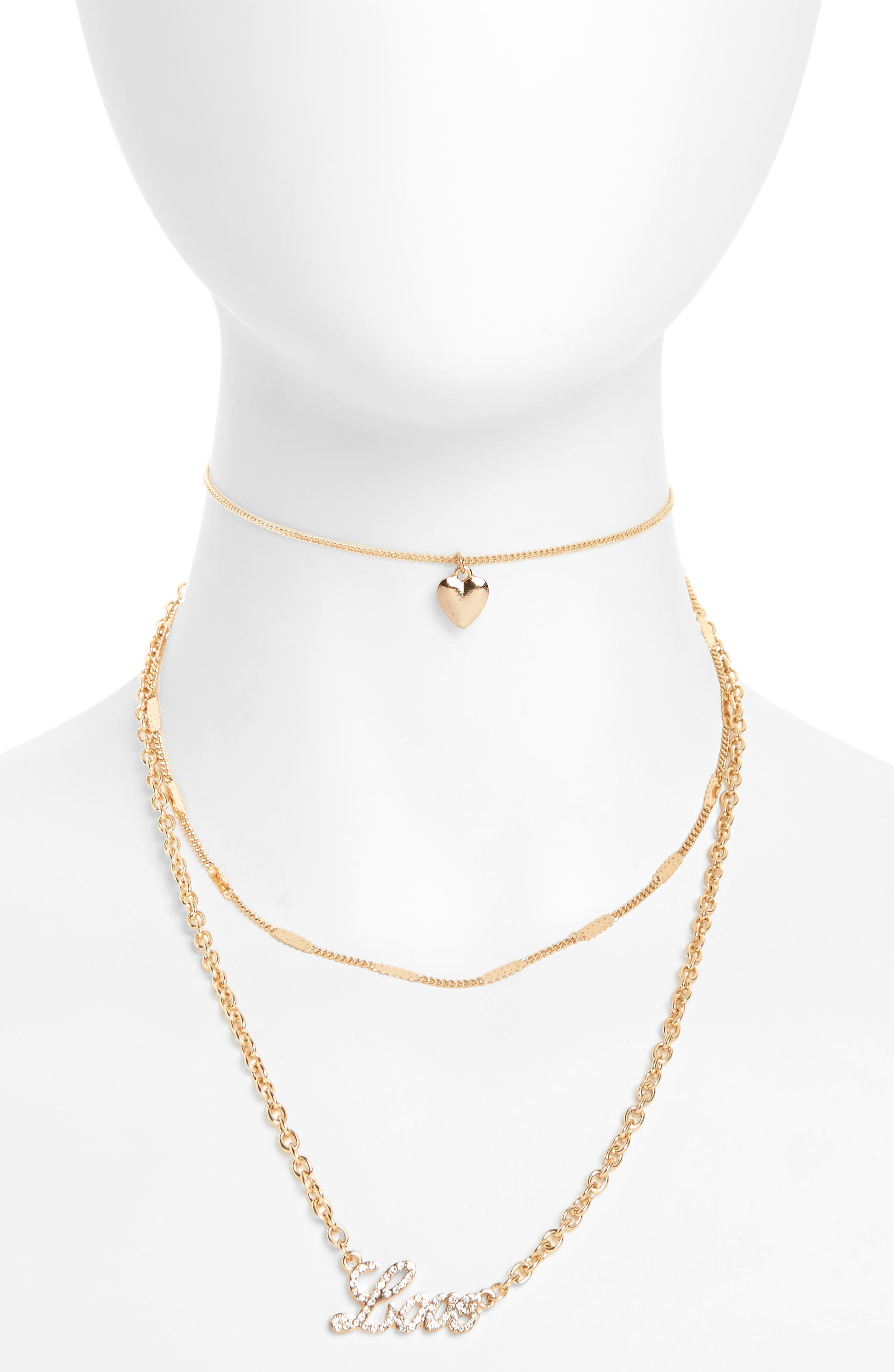 BP. Love Charm Layered Necklace