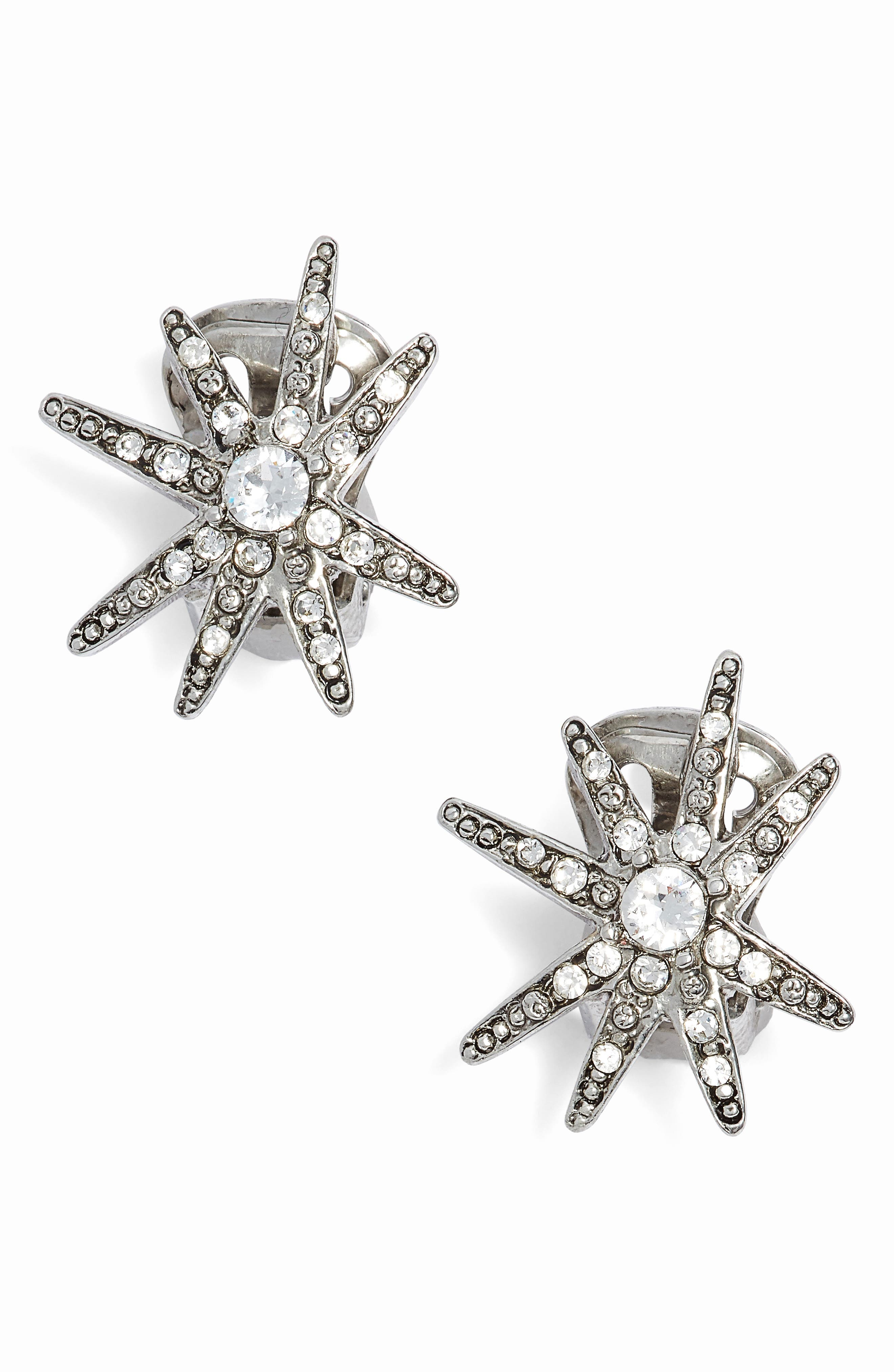 Oscar de la Renta Crystal Fireworks Stud Earrings