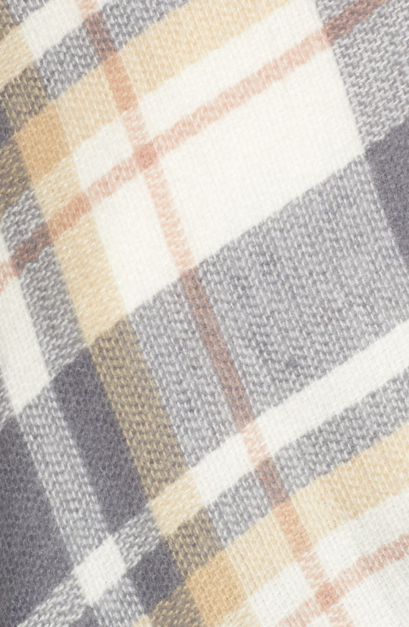 Plaid Cape,                             Alternate thumbnail 5, color,                             Grey Multi
