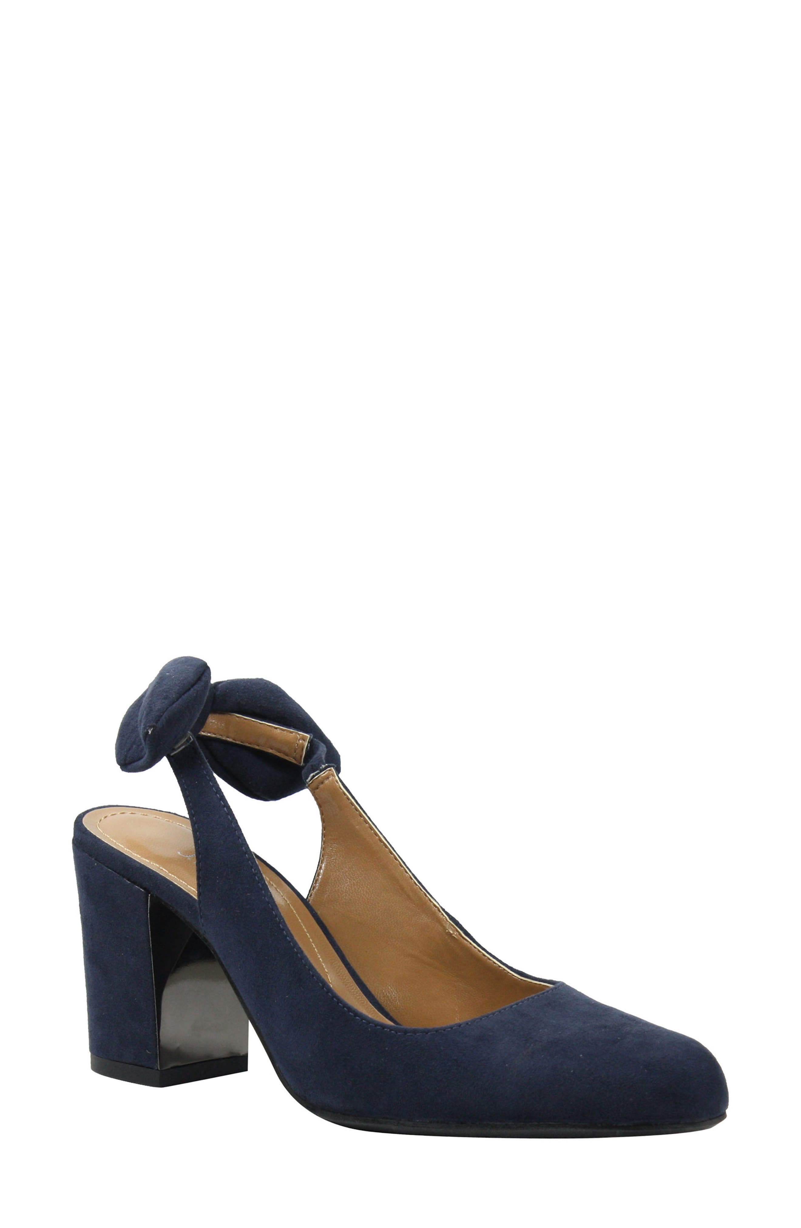 Kennedi Slingback Pump,                             Main thumbnail 1, color,                             Navy