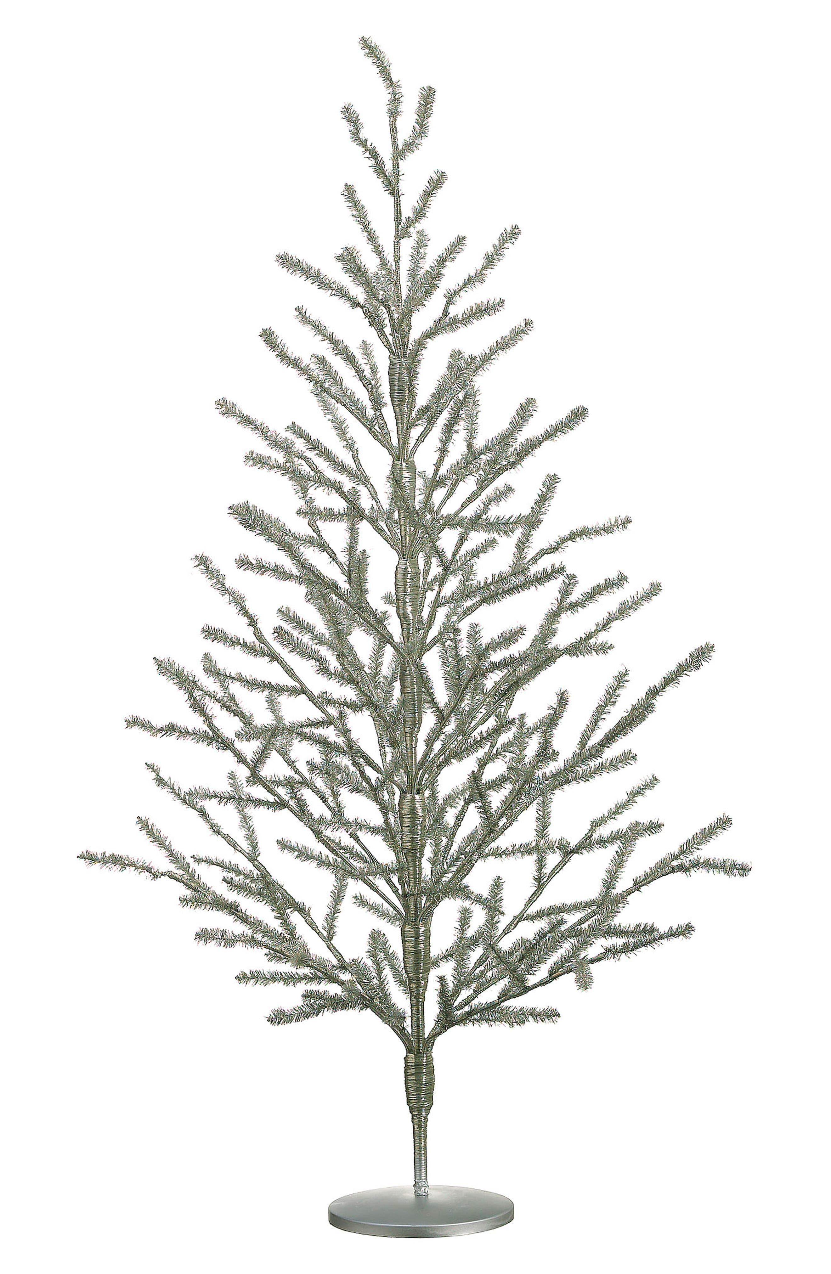 Tinsel Tree,                         Main,                         color, Silver