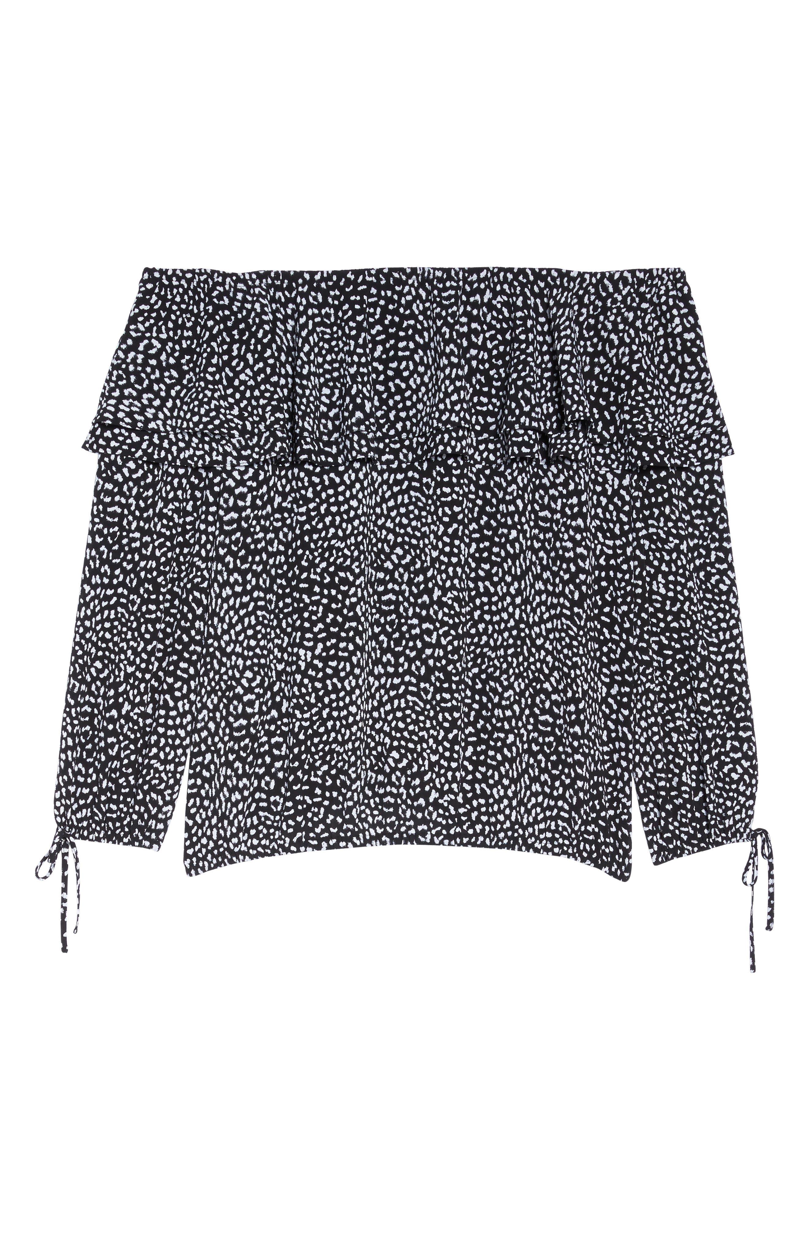 Alternate Image 6  - MICHAEL Michael Kors Cheetah Print Off the Shoulder Top (Plus Size)