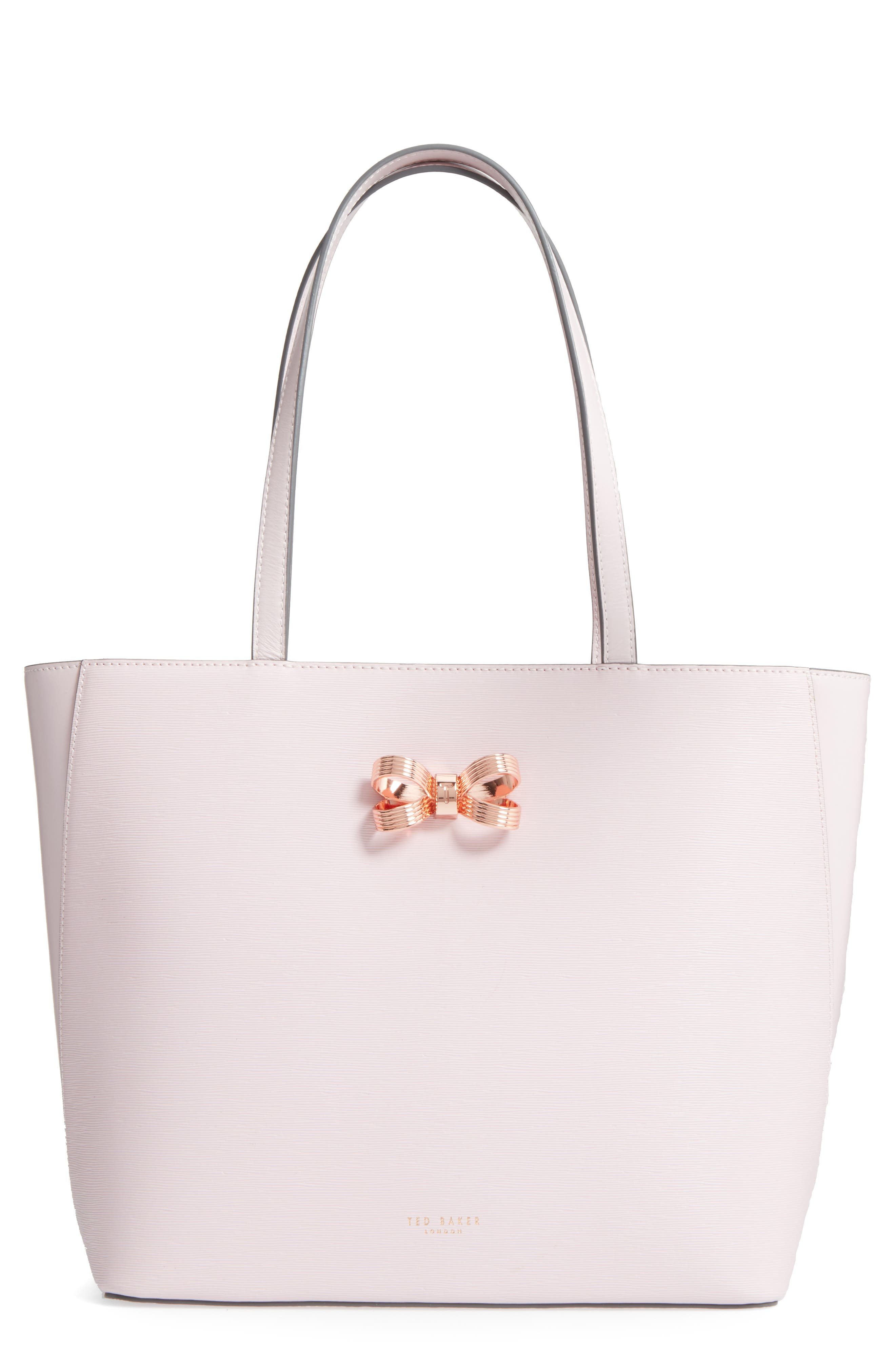 Main Image - Ted Baker London Larah Looped Bow Leather Shopper