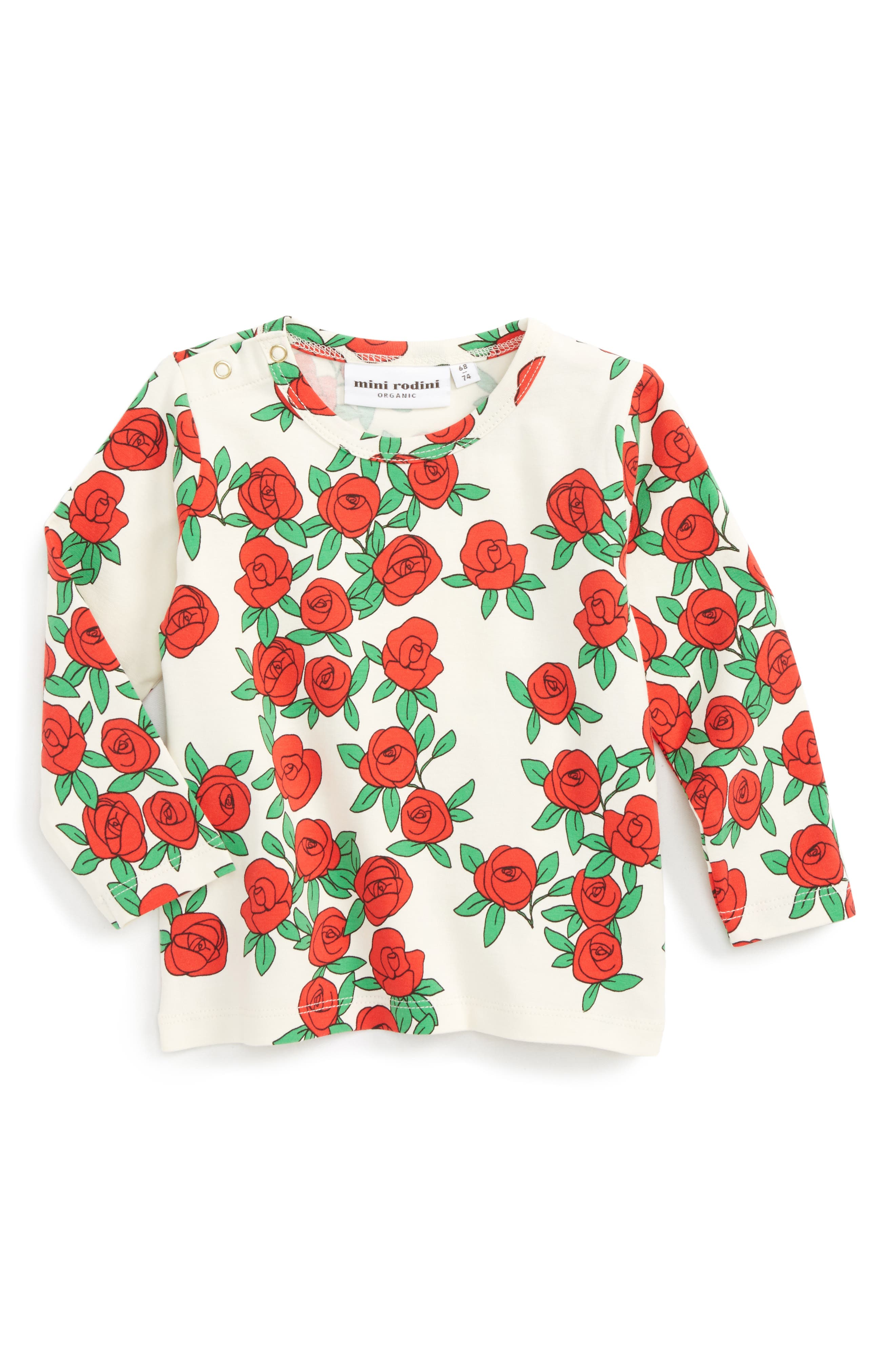 Rose Graphic Tee,                         Main,                         color, White