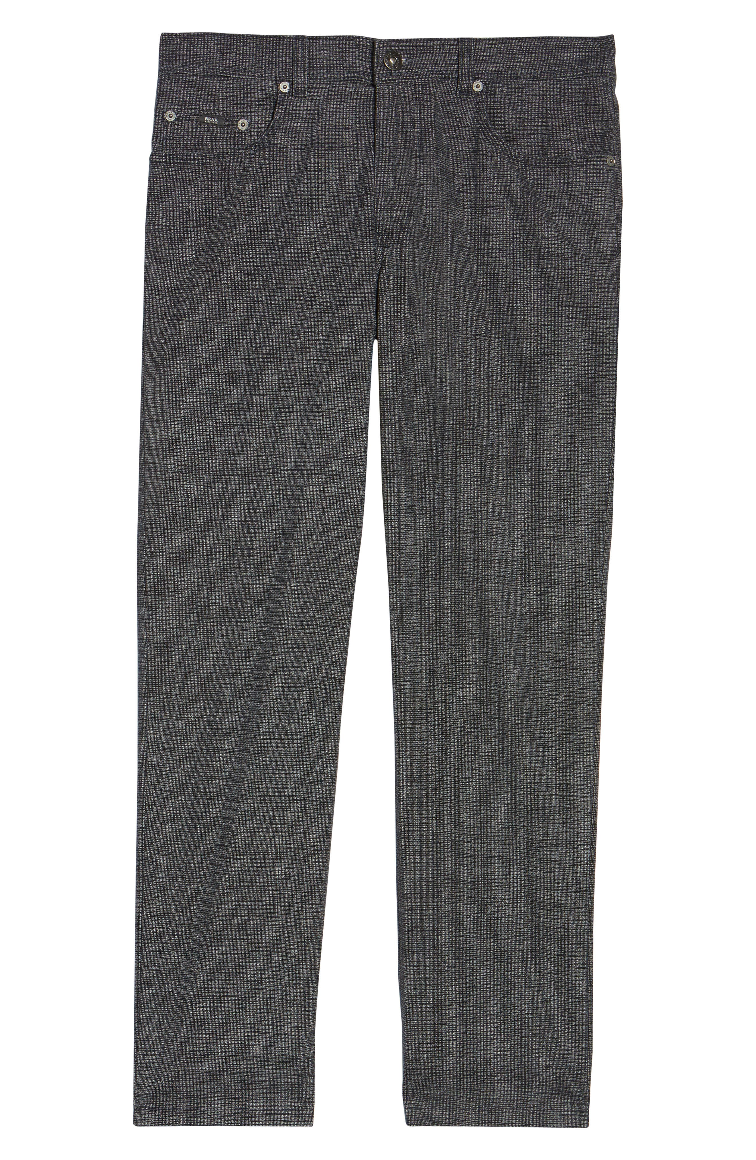 Cotton Blend Five-Pocket Trousers,                             Alternate thumbnail 6, color,                             Midnight