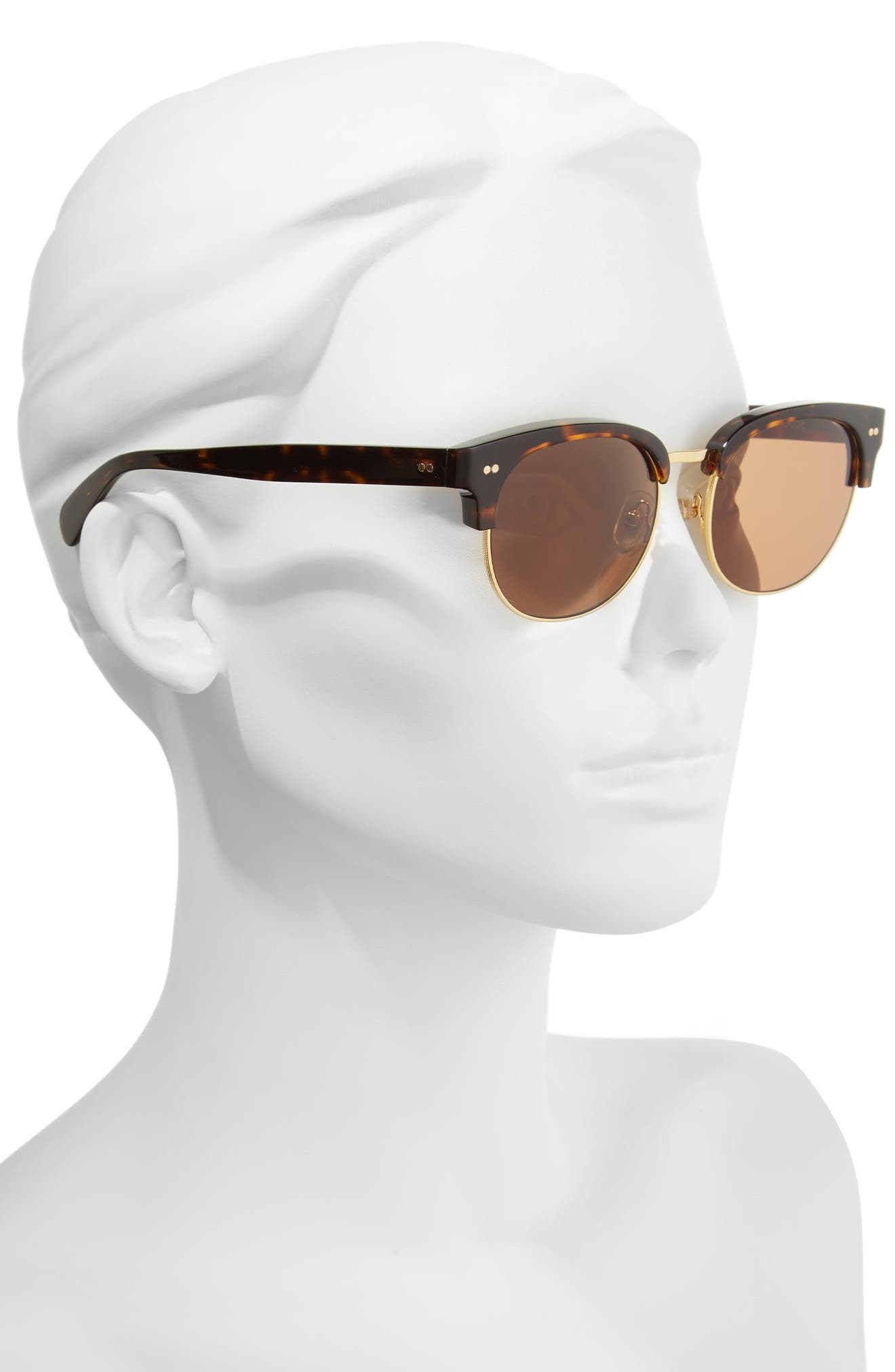 Clubhouse 50mm Semi-Rimless Sunglasses,                             Alternate thumbnail 2, color,                             Tortoise