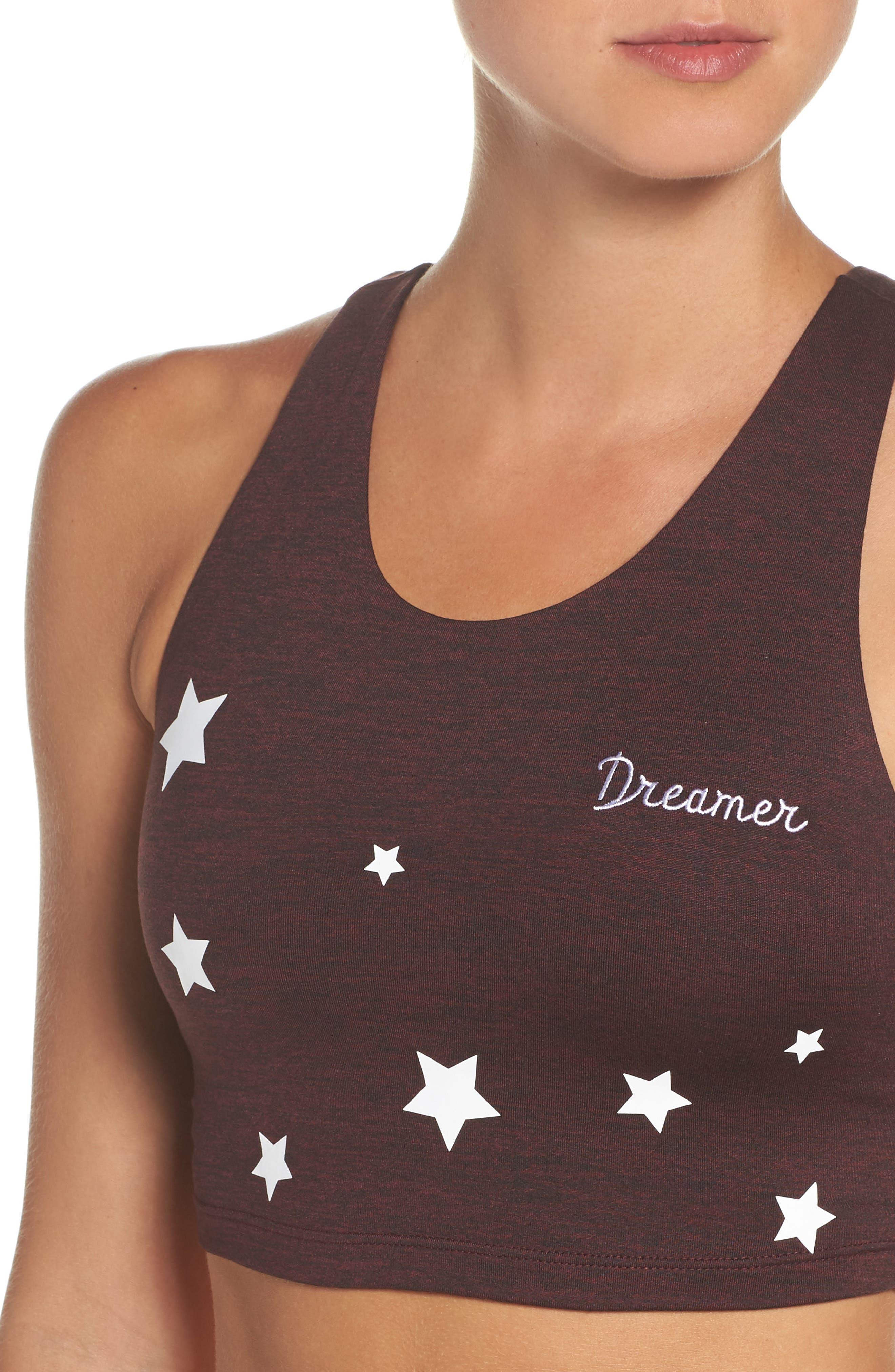 Dreamer Crop Top,                             Alternate thumbnail 4, color,                             Burgundy