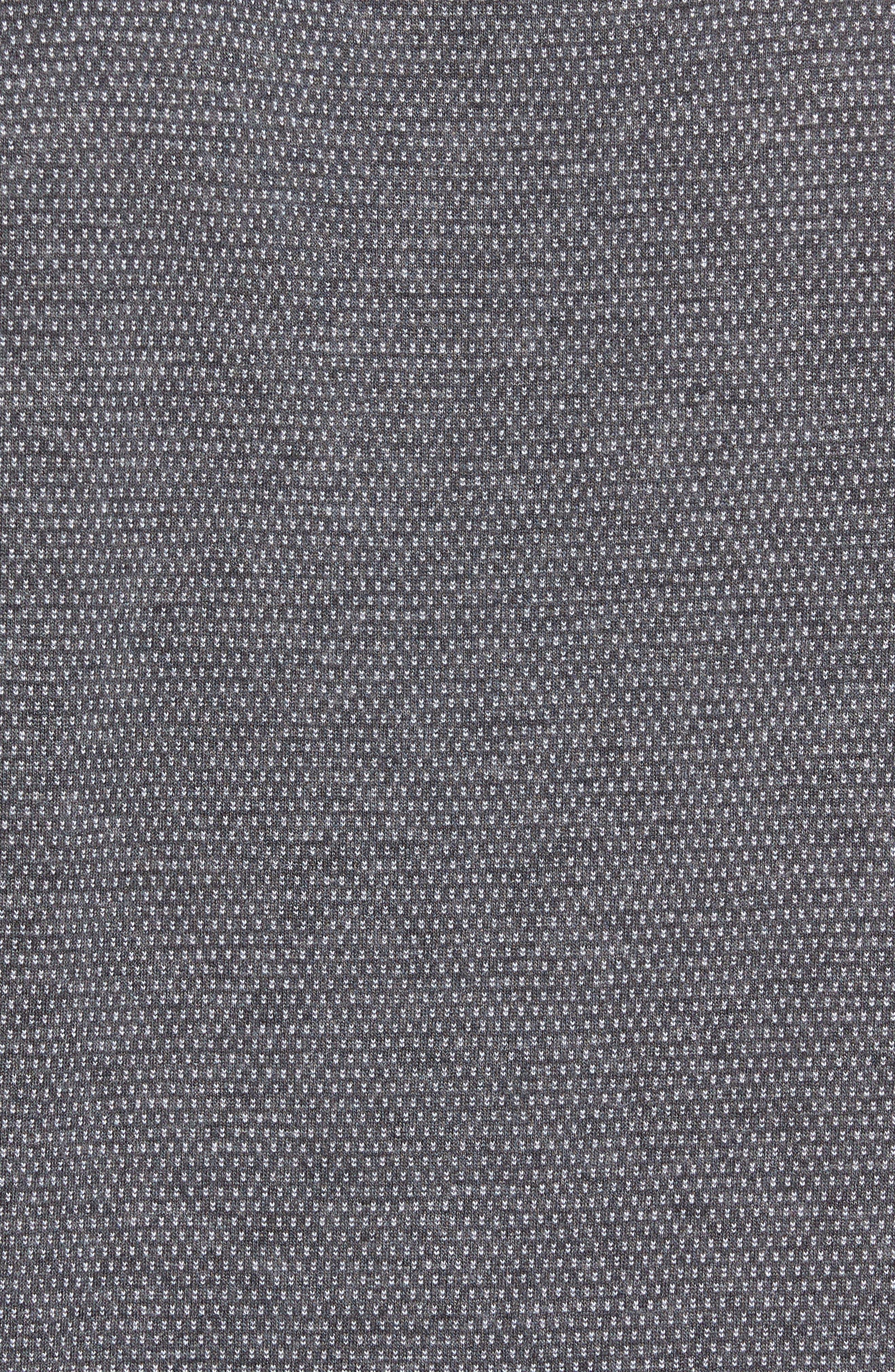 Moono Baseball Collar Polo,                             Alternate thumbnail 6, color,                             Grey Marl