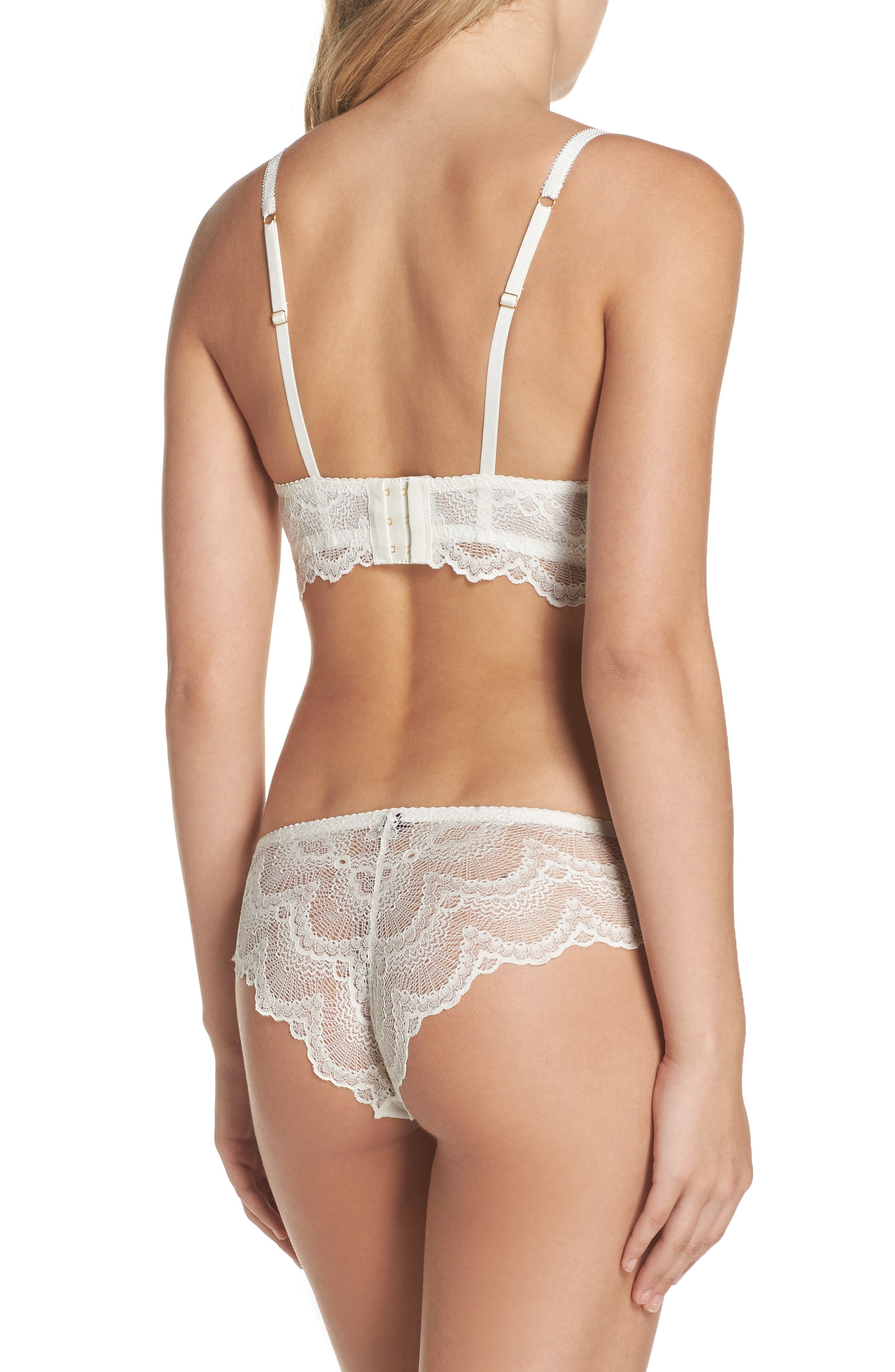 Lace Hipster Briefs,                             Alternate thumbnail 6, color,                             Antique Ivory