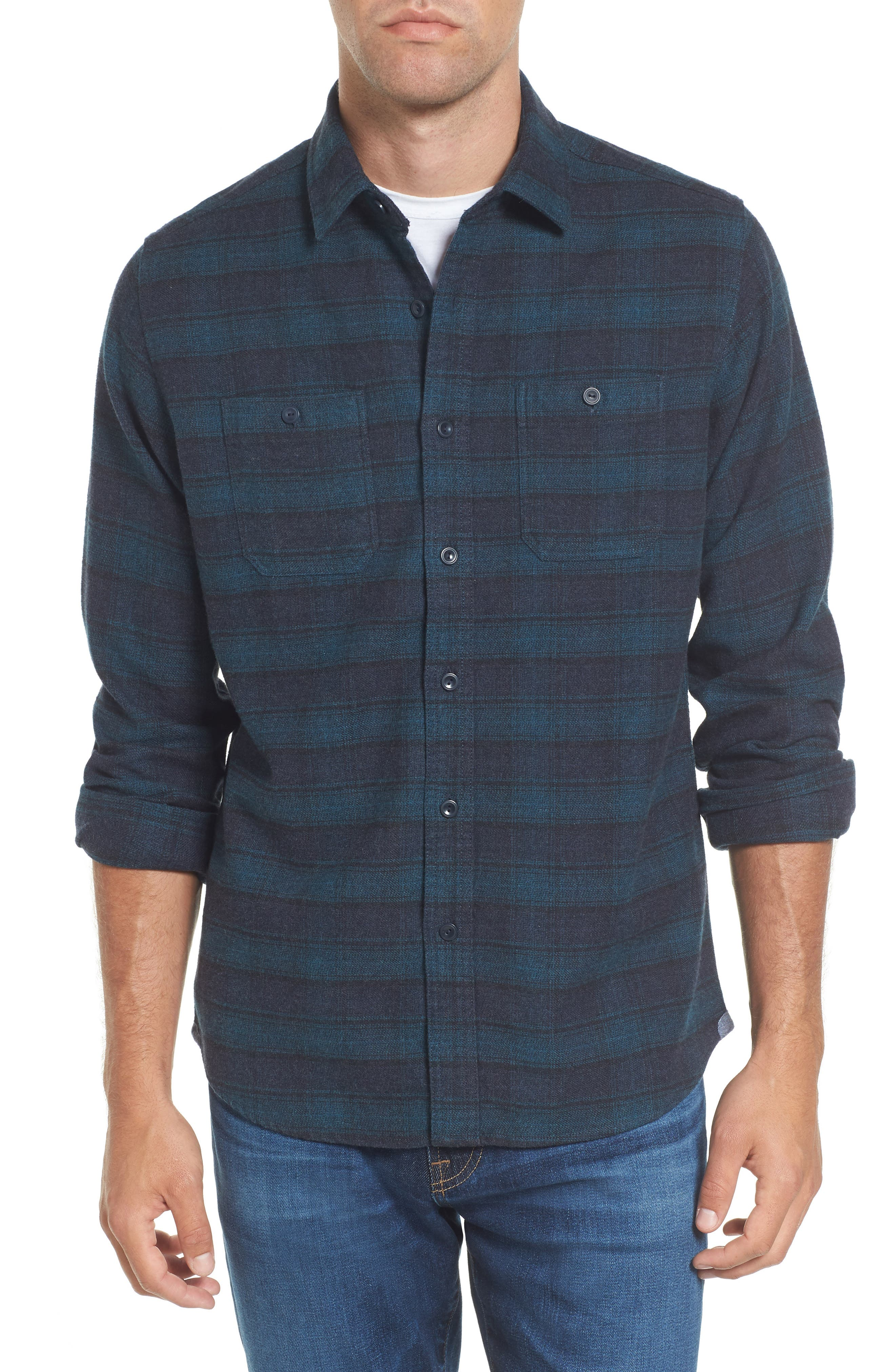 Alternate Image 1 Selected - Grayers Cortland Heritage Modern Fit Flannel Sport Shirt