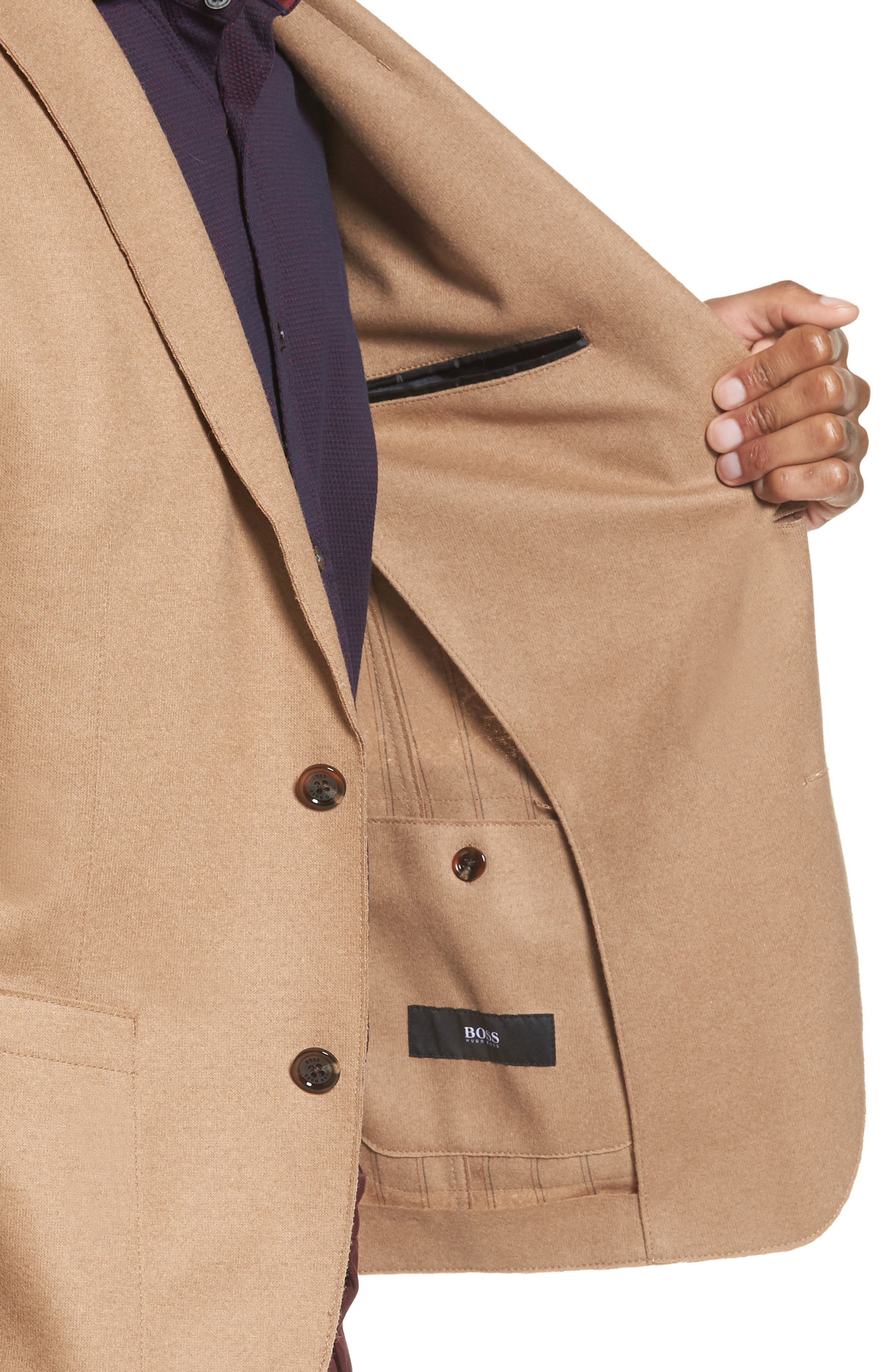 Alternate Image 4  - BOSS Nordin Trim Fit Virgin Wool Sport Coat