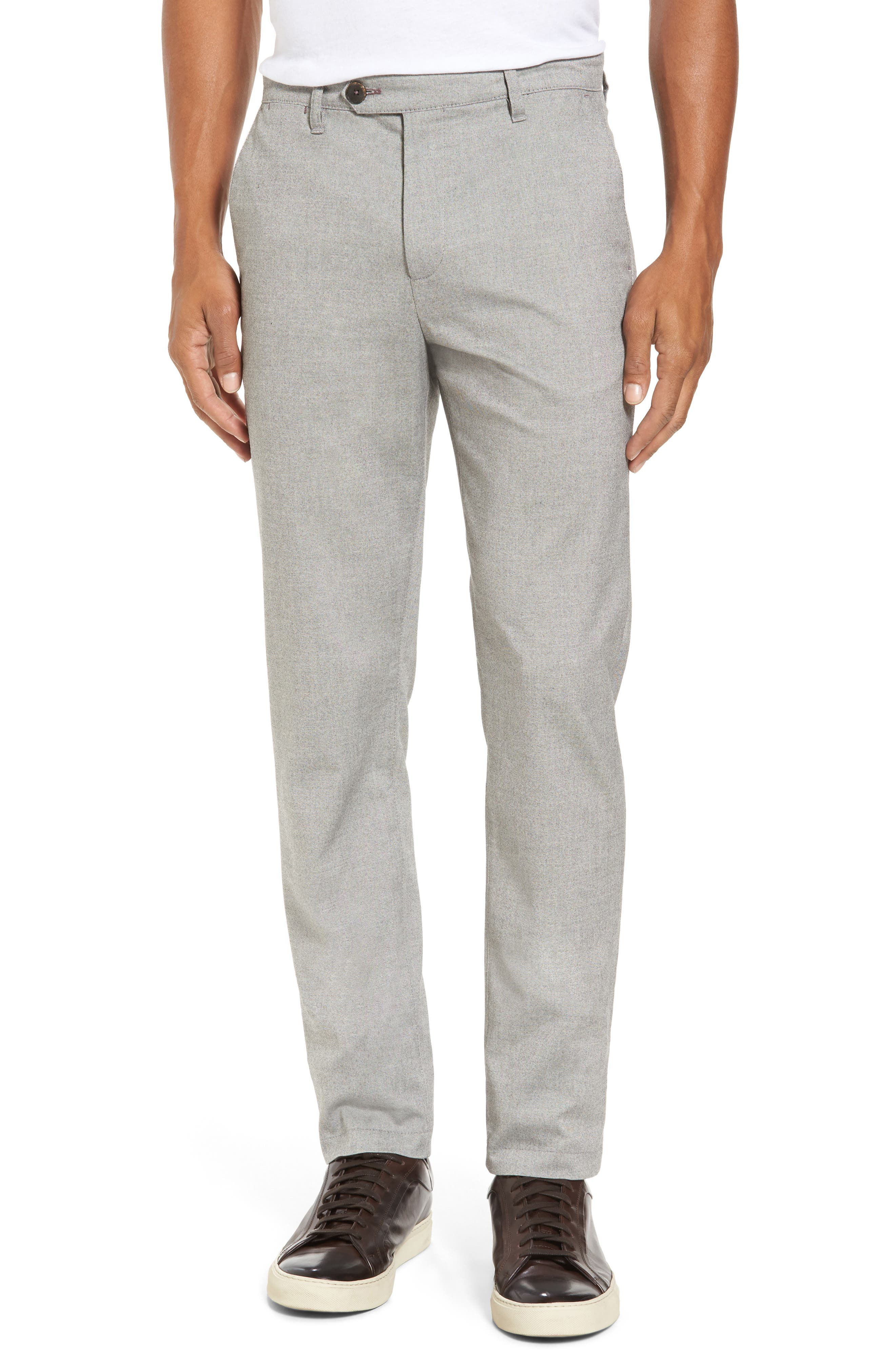 Modern Slim Fit Trousers,                         Main,                         color, Light Grey