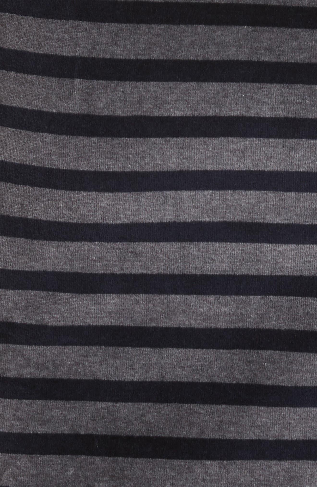 Alternate Image 5  - T by Alexander Wang Stripe Velour Turtleneck Dress