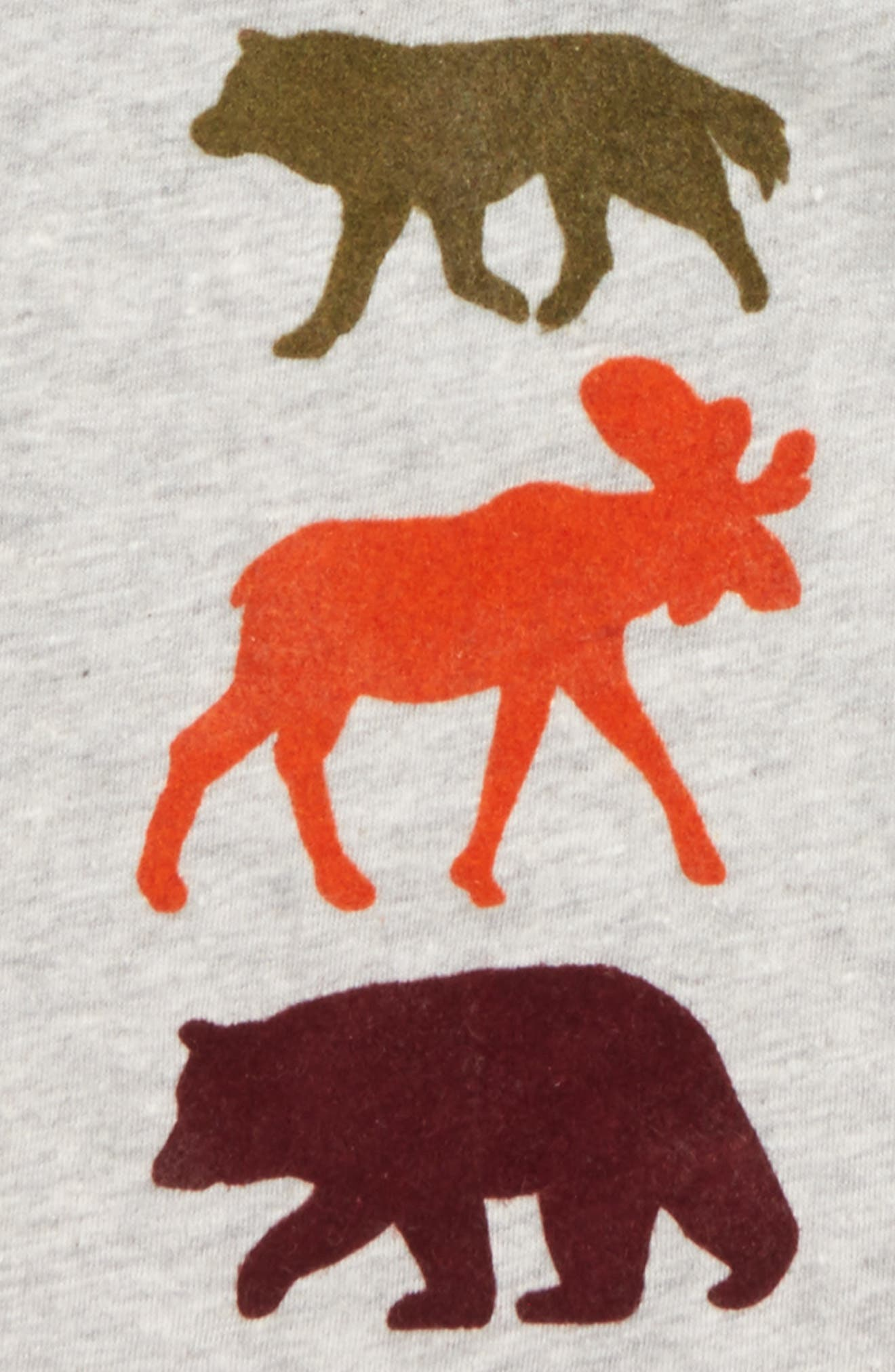 Hooded T-Shirt,                             Alternate thumbnail 2, color,                             Grey Ash Heather Animals