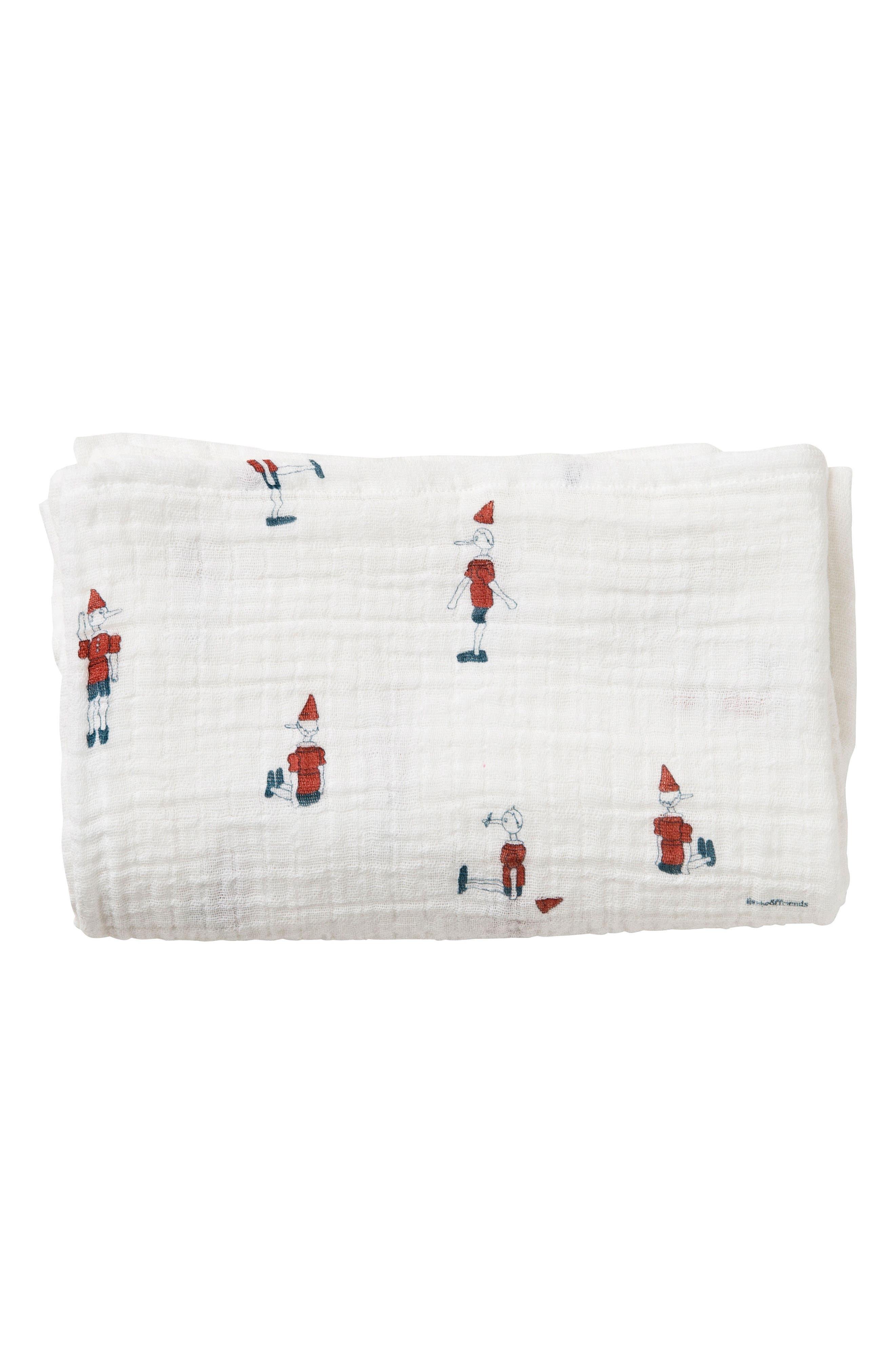 Pinocchio Muslin Swaddling Cloth,                             Alternate thumbnail 3, color,                             Pinocchio