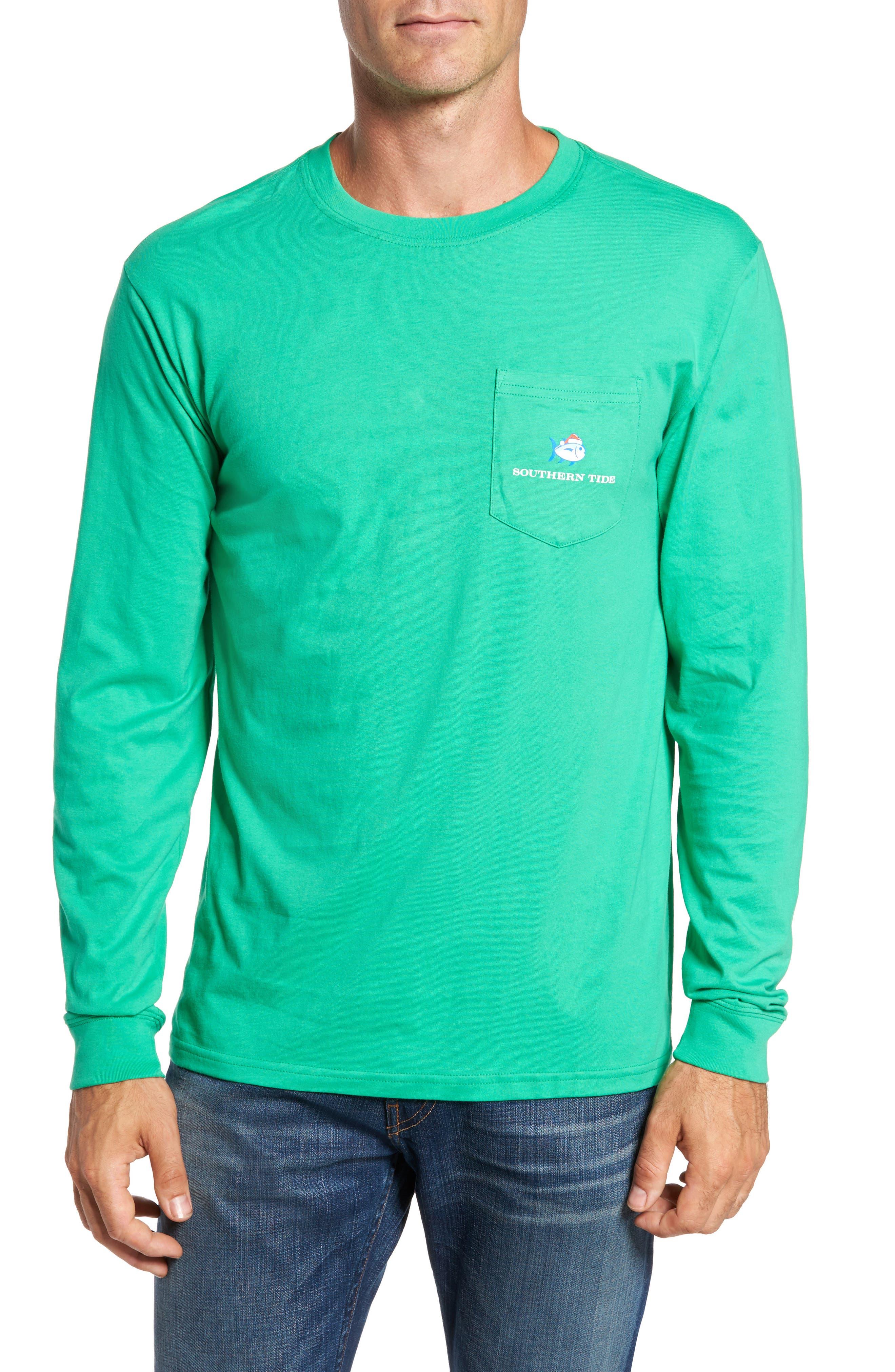 Christmas Compass T-Shirt,                         Main,                         color, Grass Green