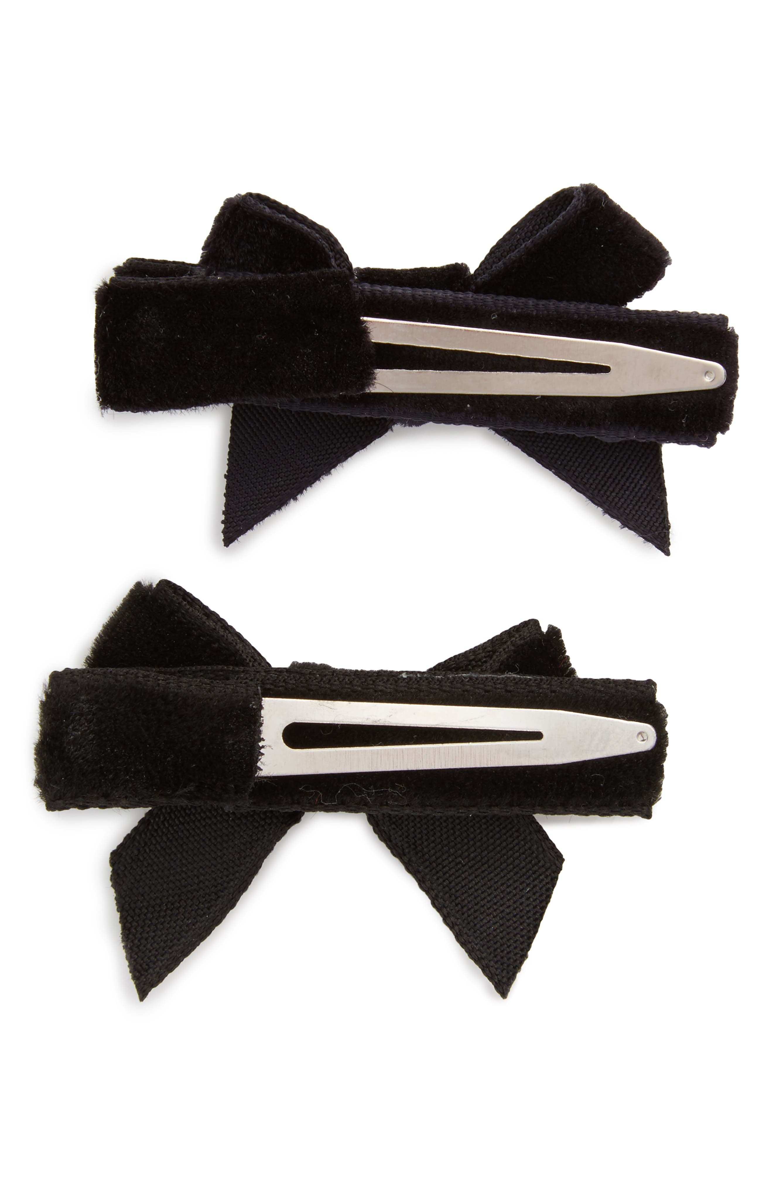 Alternate Image 2  - PLH Bows & Laces 2-Pack Bow Clips (Baby Girls)