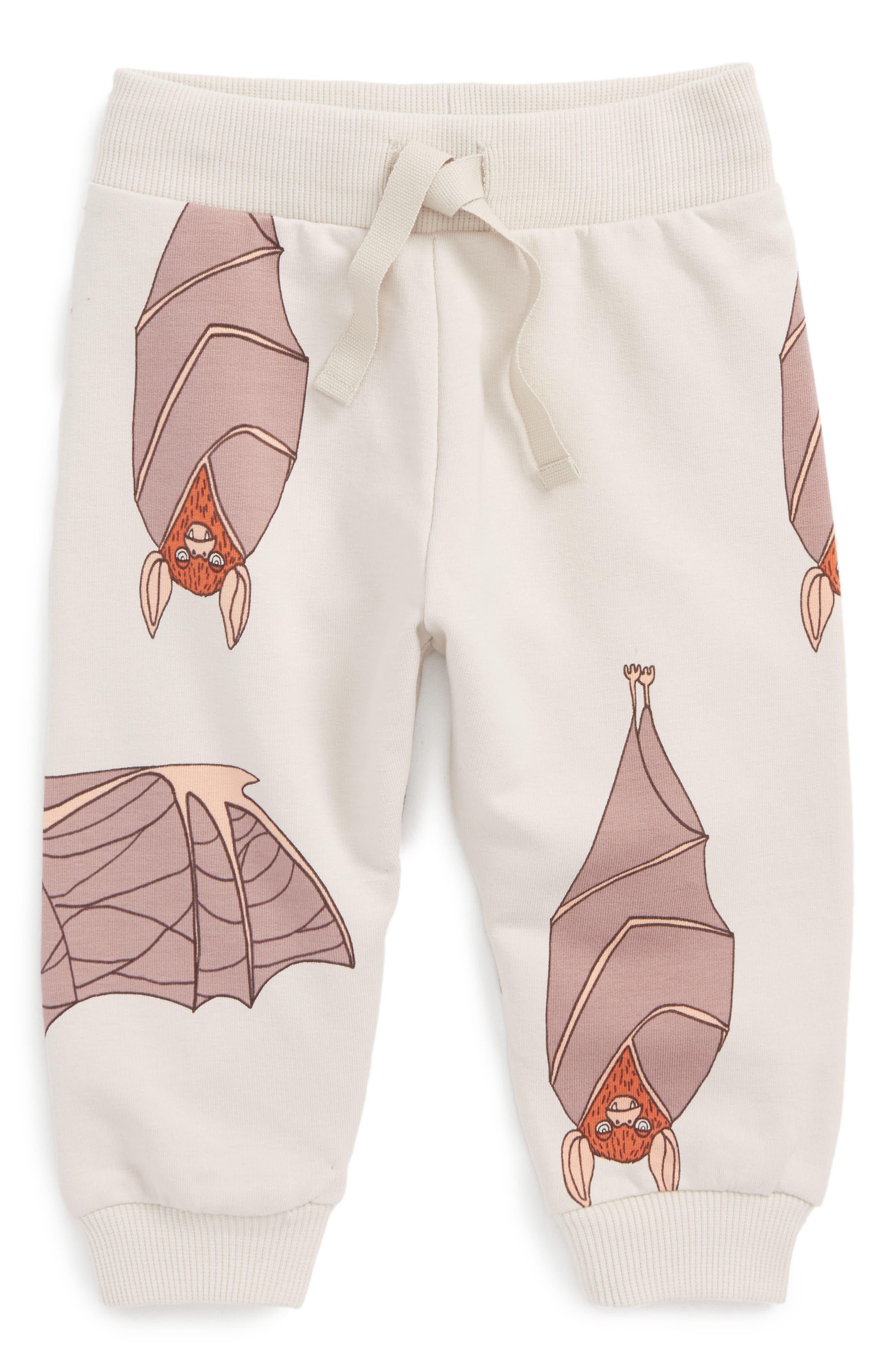 Bats Sweatpants,                         Main,                         color, Light Grey