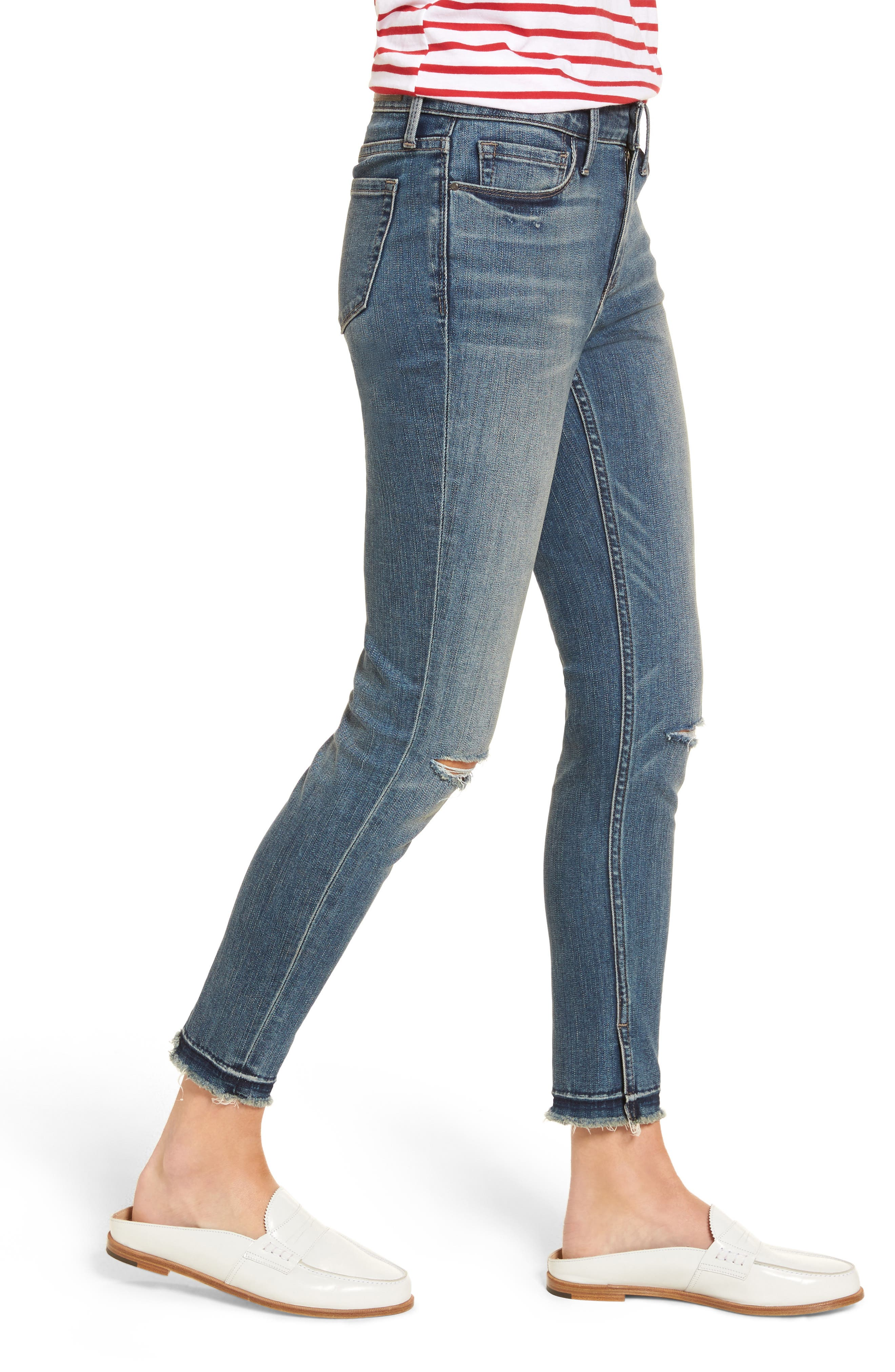 Alternate Image 3  - Treasure & Bond Ankle Skinny Jeans (Rain Dusk Destroy)