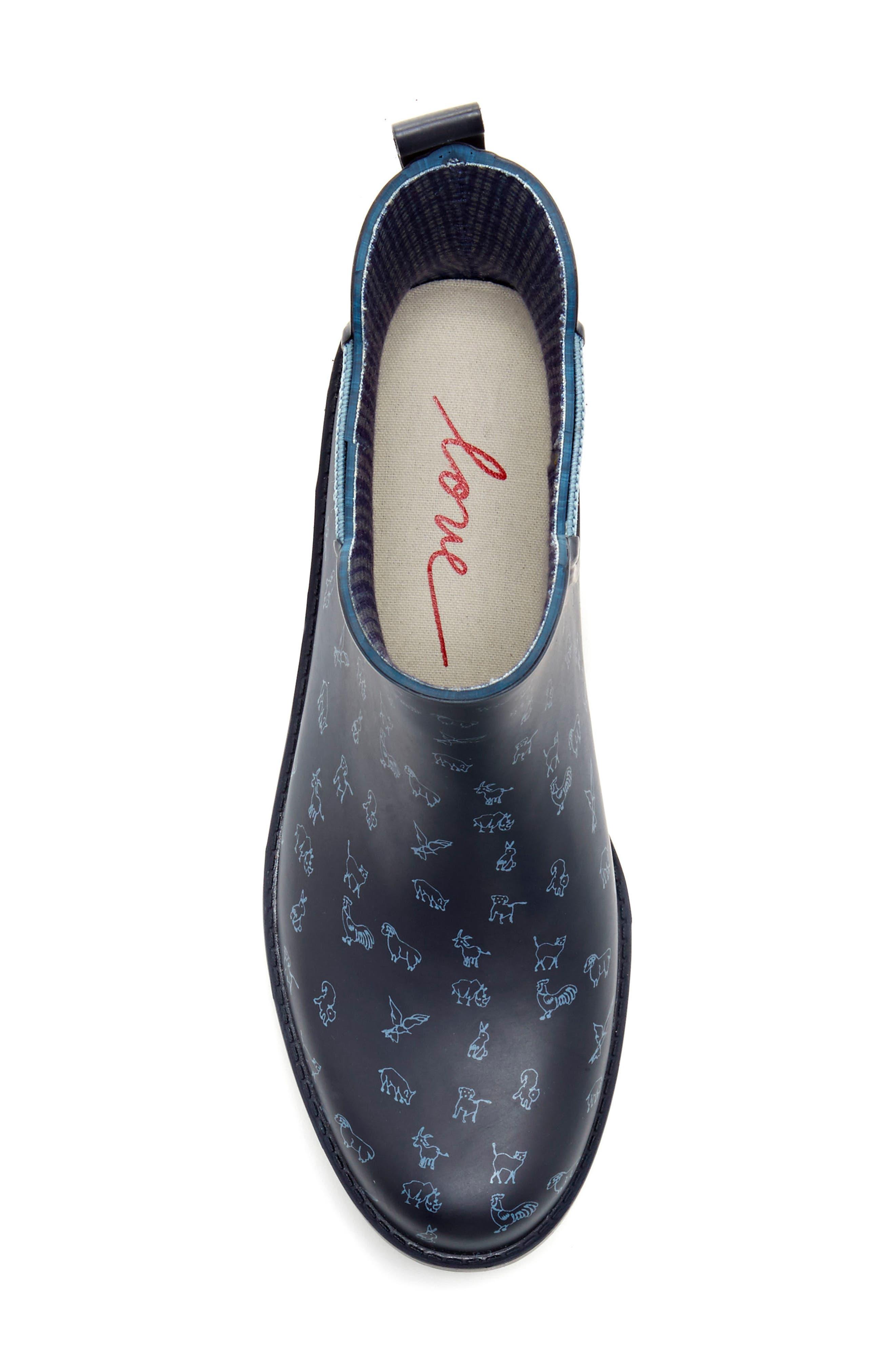 Wallita Rain Boot,                             Alternate thumbnail 4, color,                             Lagoon