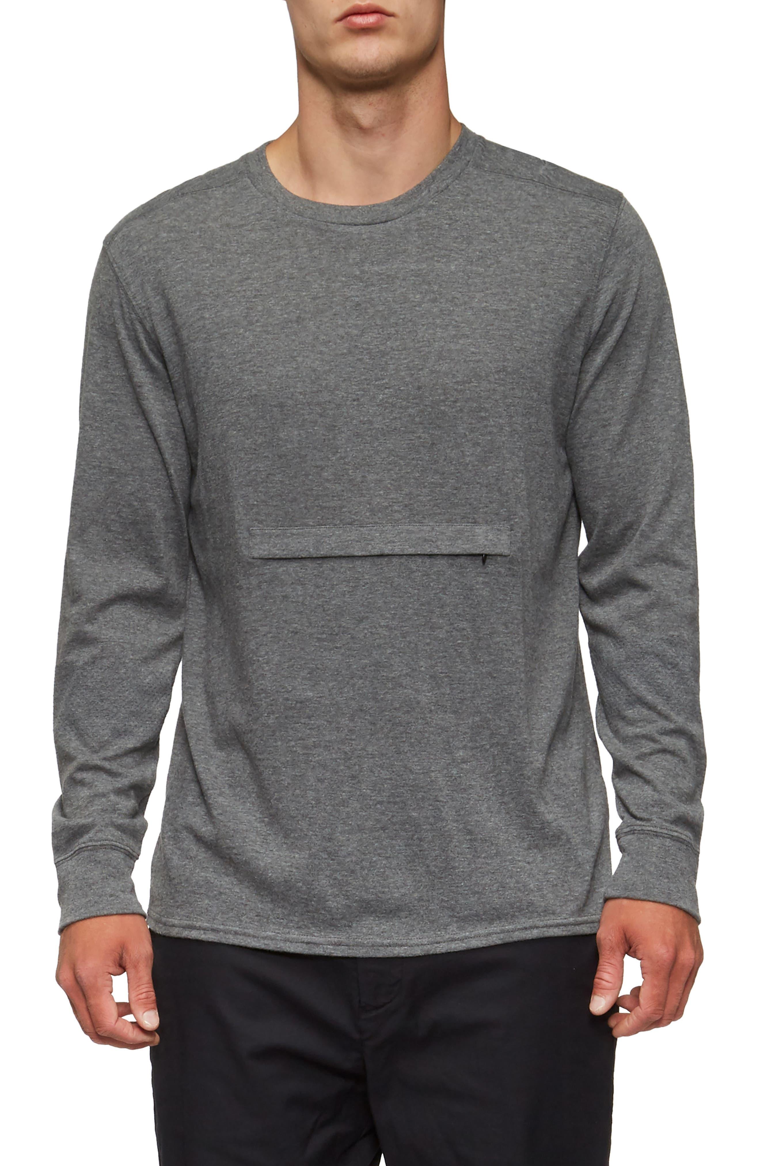 Lowell Long Sleeve T-Shirt,                         Main,                         color, Heather Grey