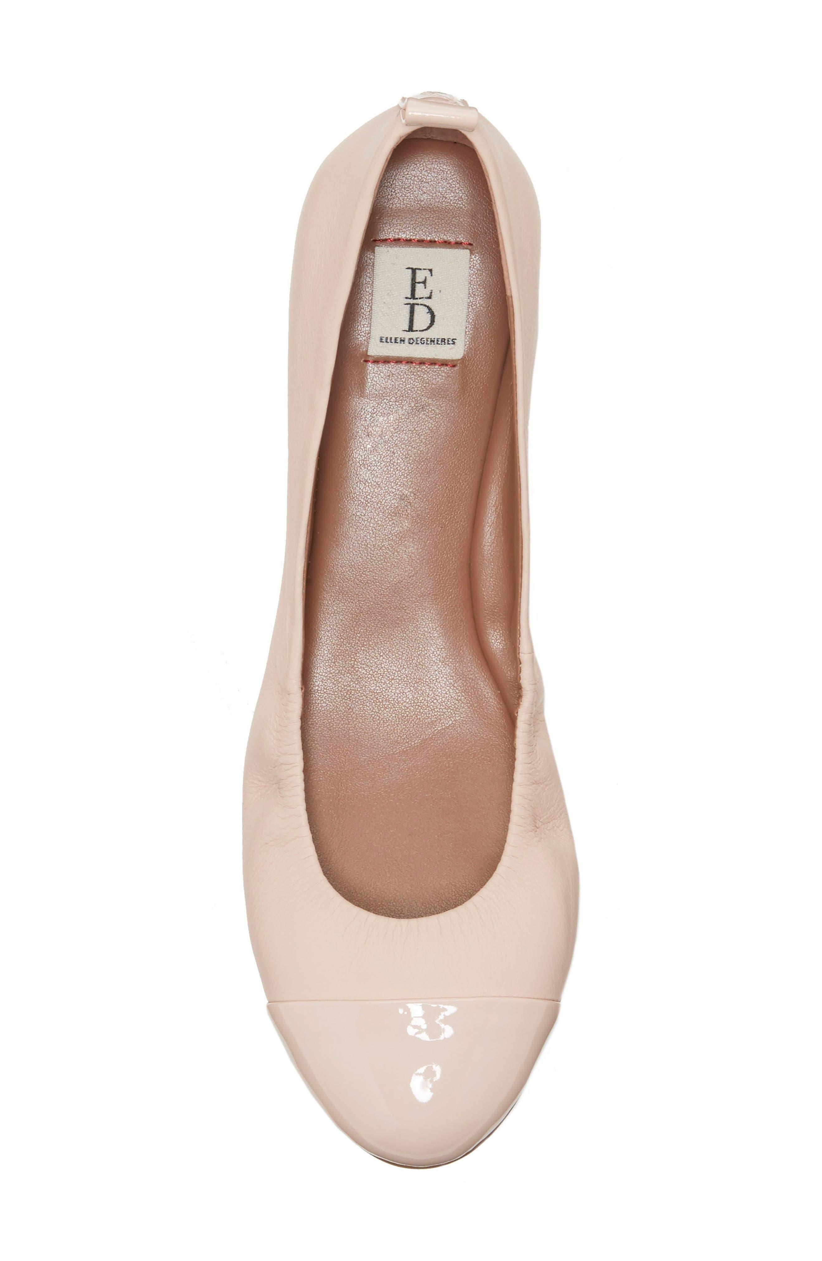 Alternate Image 3  - ED Ellen DeGeneres Lilliane Cap Toe Ballet Flat (Women)