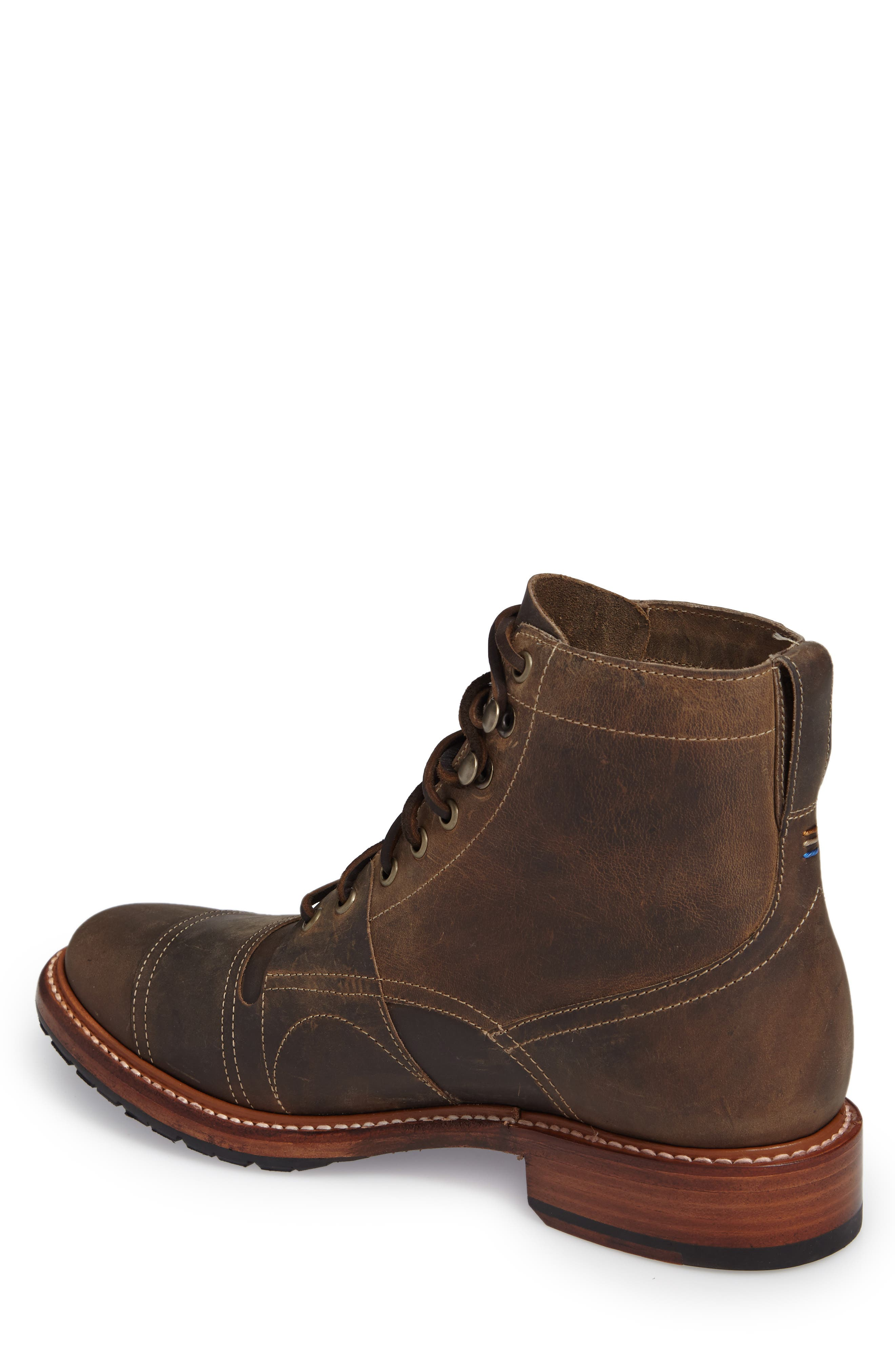 Cypress Plain Toe Boot,                             Alternate thumbnail 2, color,                             Brown Leather