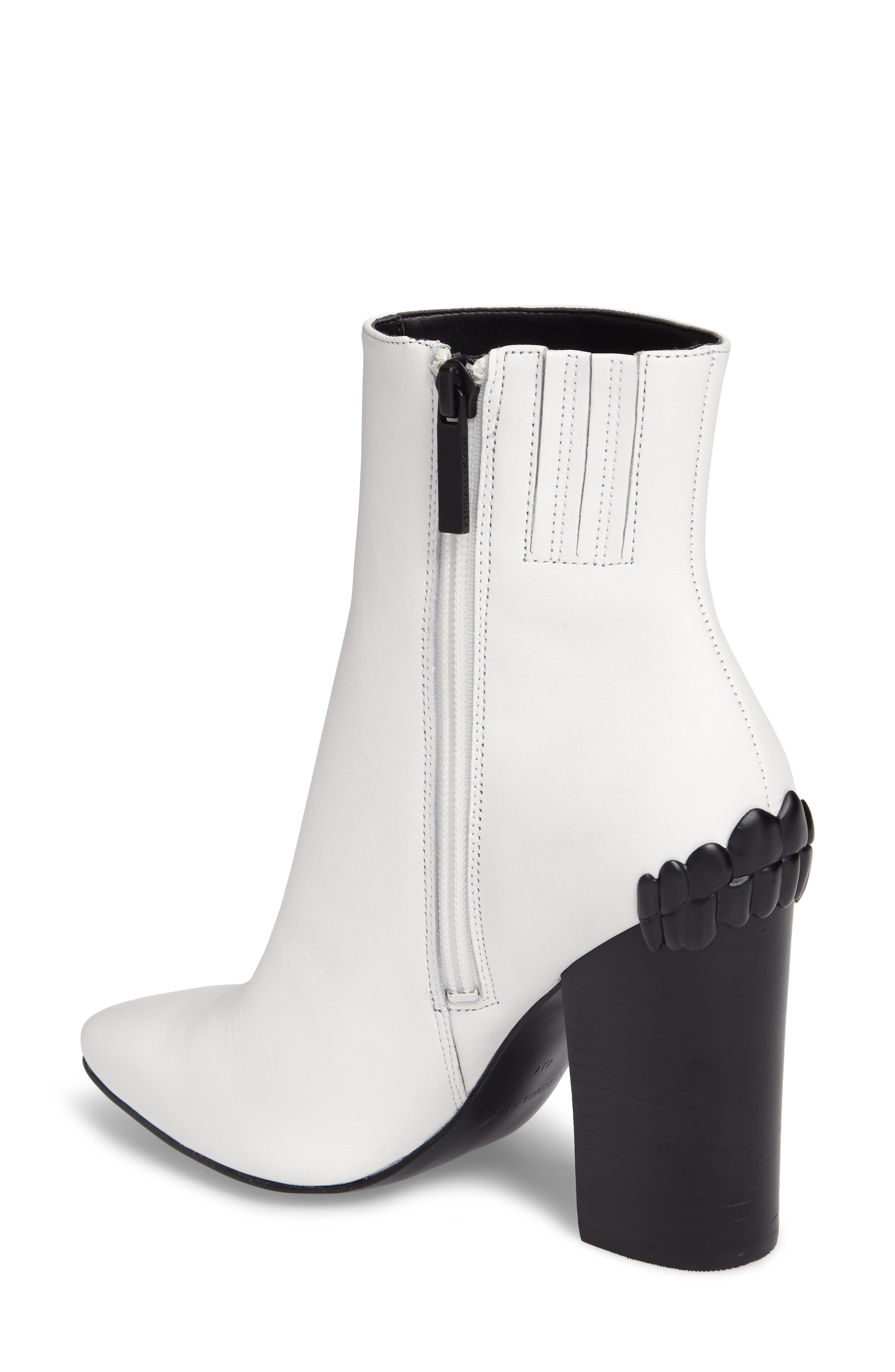 Haedyn Bootie,                             Alternate thumbnail 2, color,                             White Leather