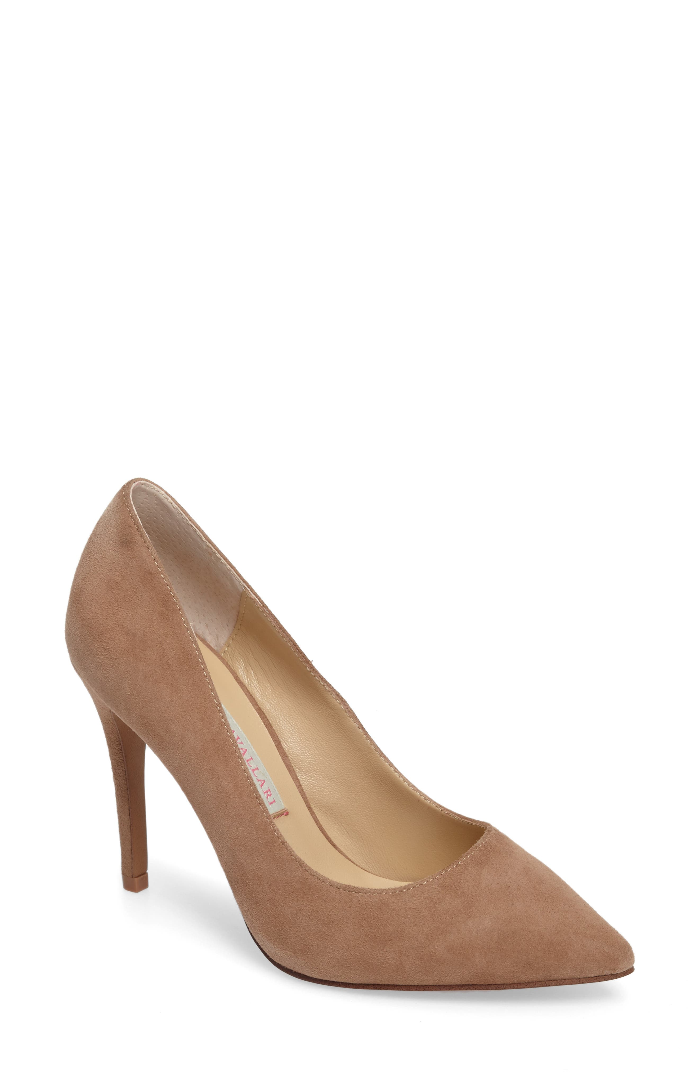 Gisele Pointy Toe Pump,                         Main,                         color, Clay Suede