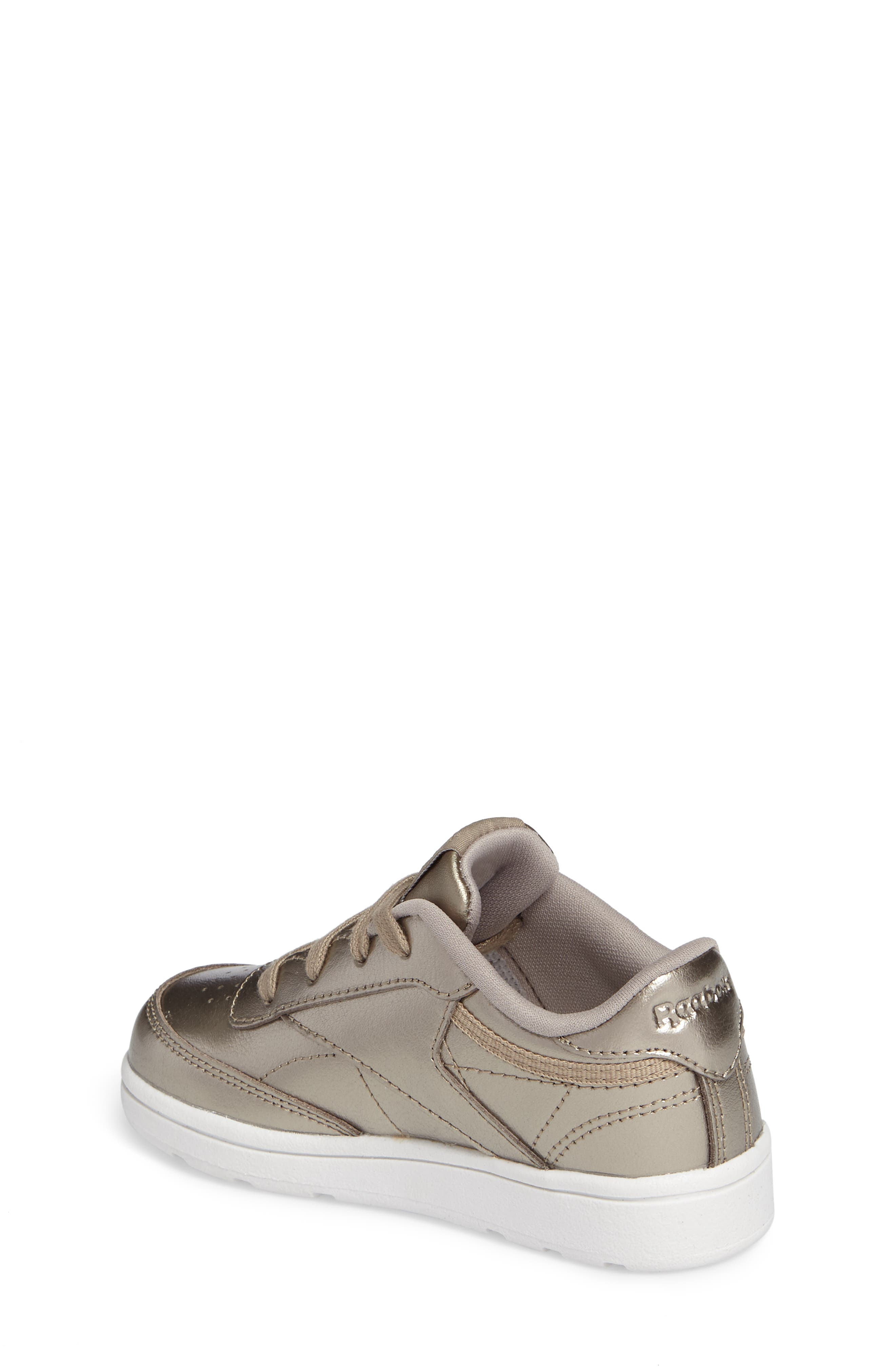 Alternate Image 2  - Reebok Club C Melted Metallic Sneaker (Baby, Walker & Toddler)