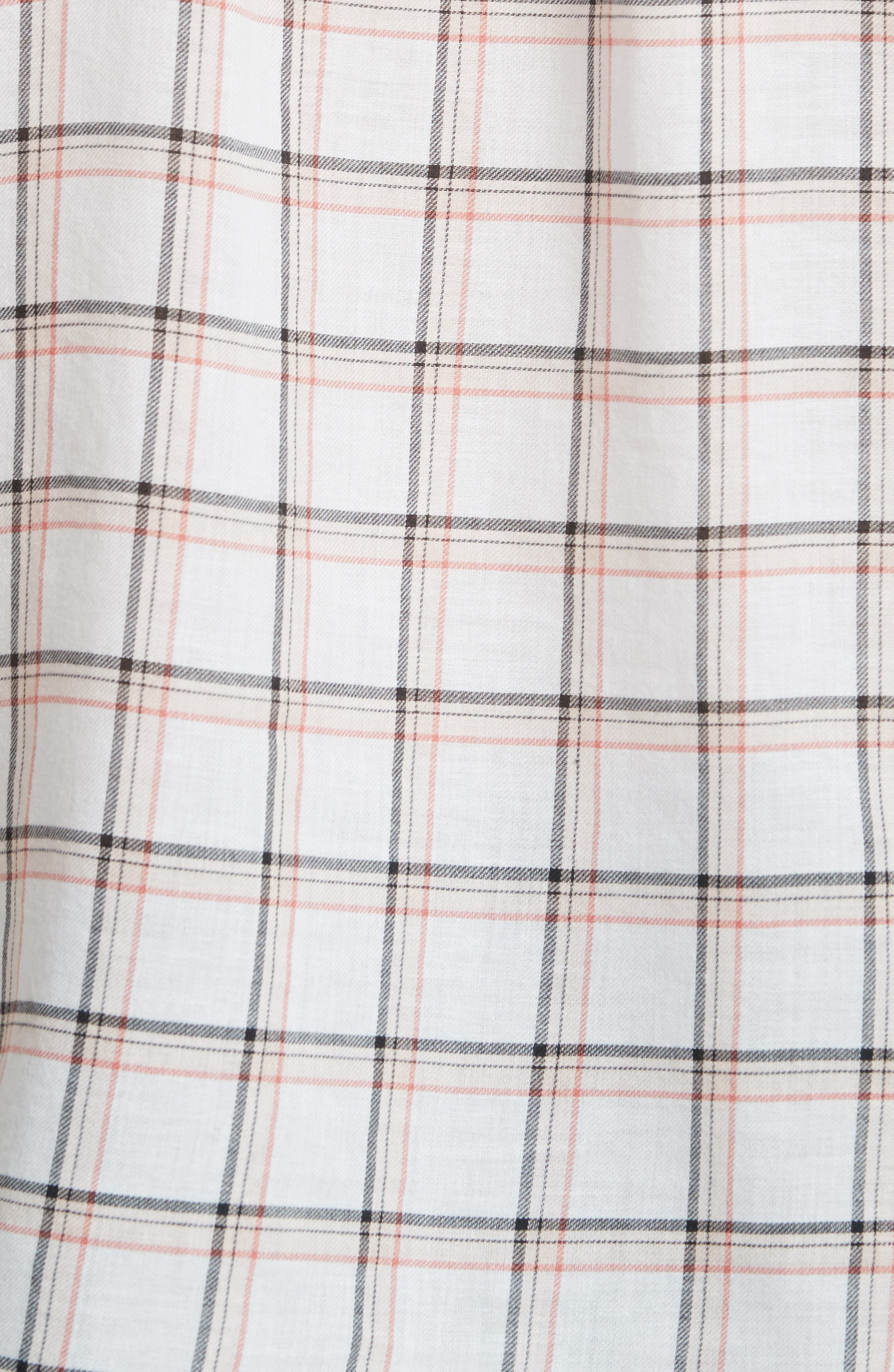 Fara Plaid Top,                             Alternate thumbnail 5, color,                             Porcelain