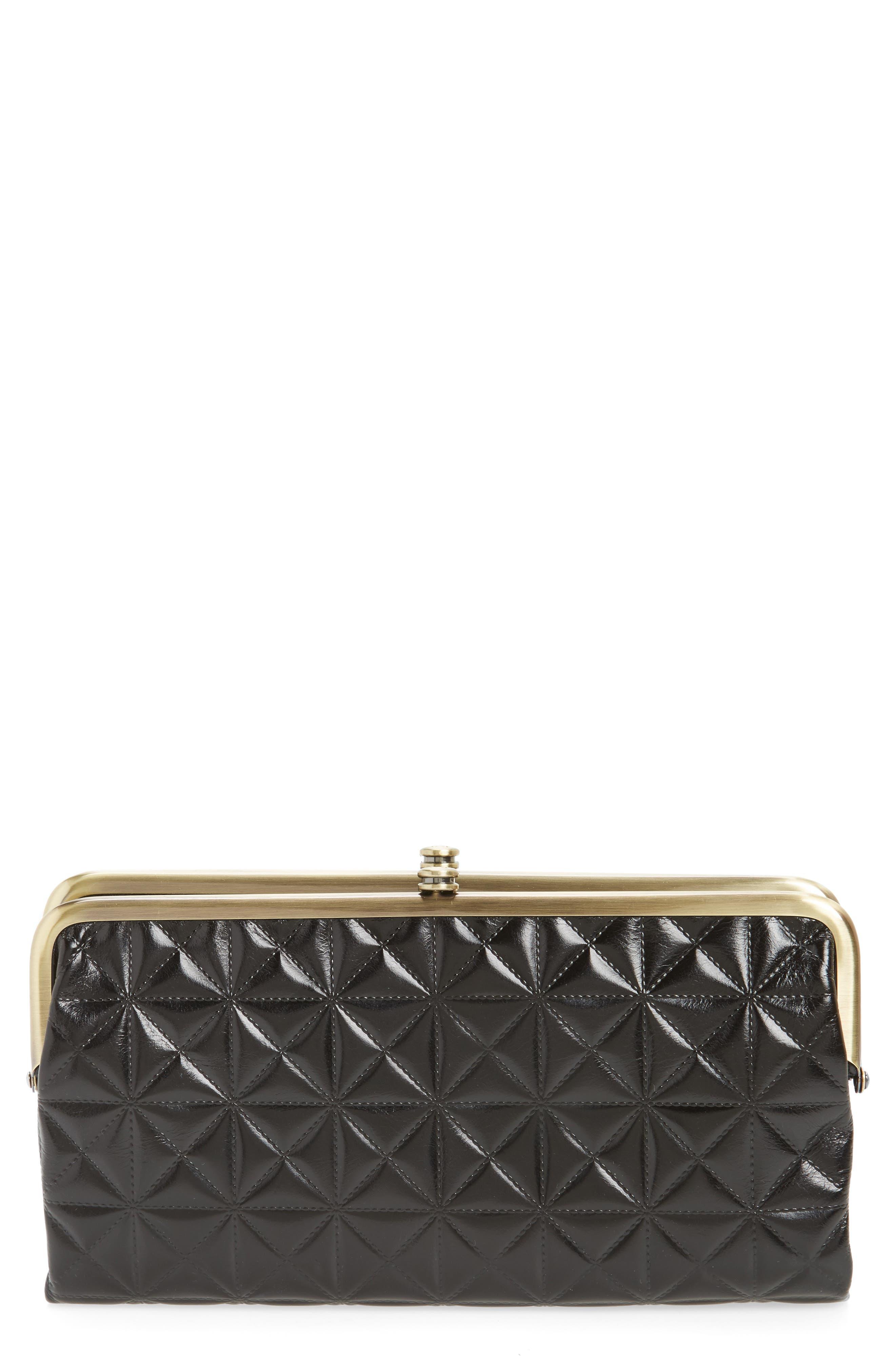 Hobo Lauren Quilted Calfskin Leather Wallet