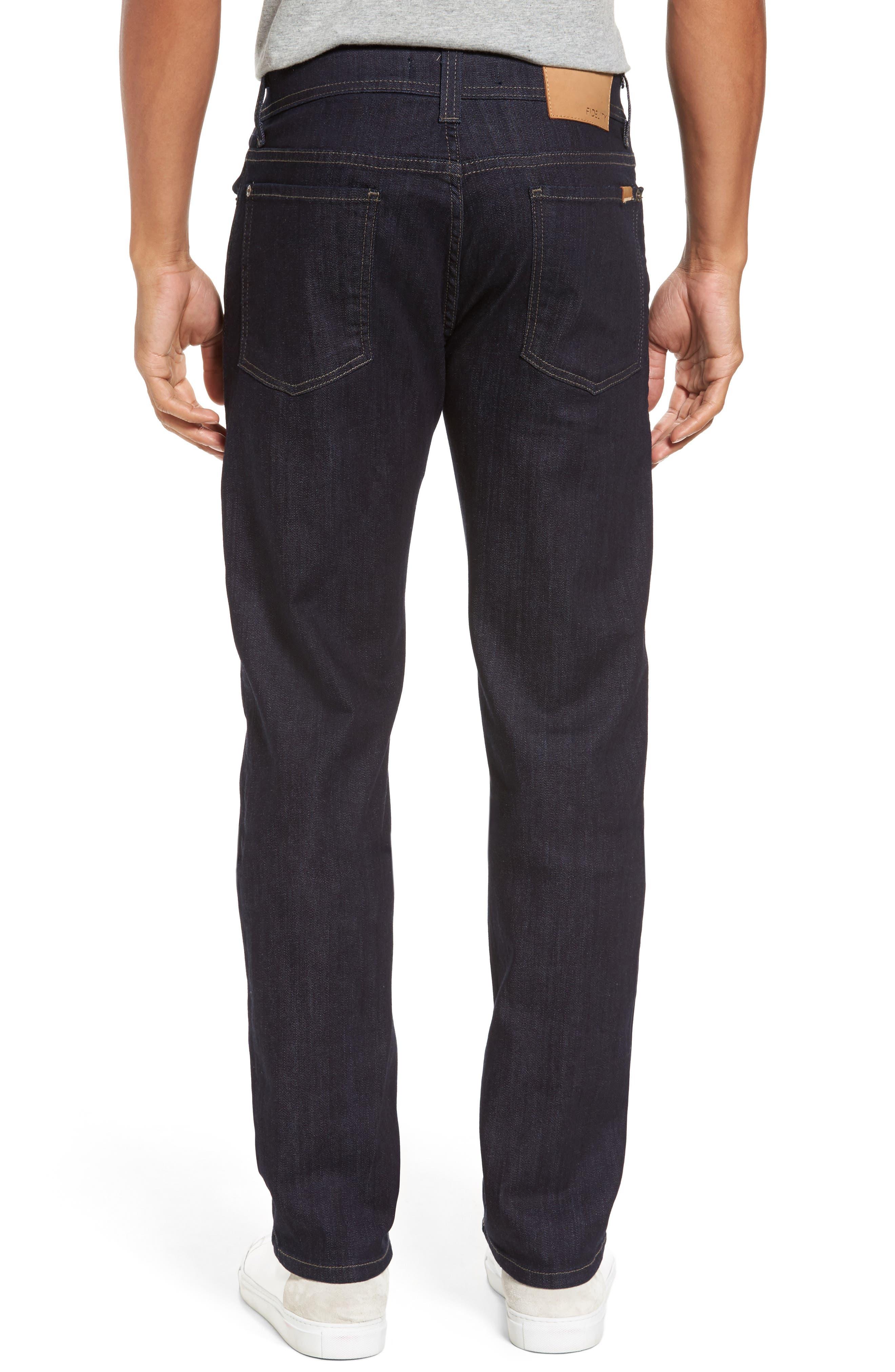 Alternate Image 2  - Fidelity Denim Jimmy Slim Straight Leg Jeans (Galaxy Rinse)