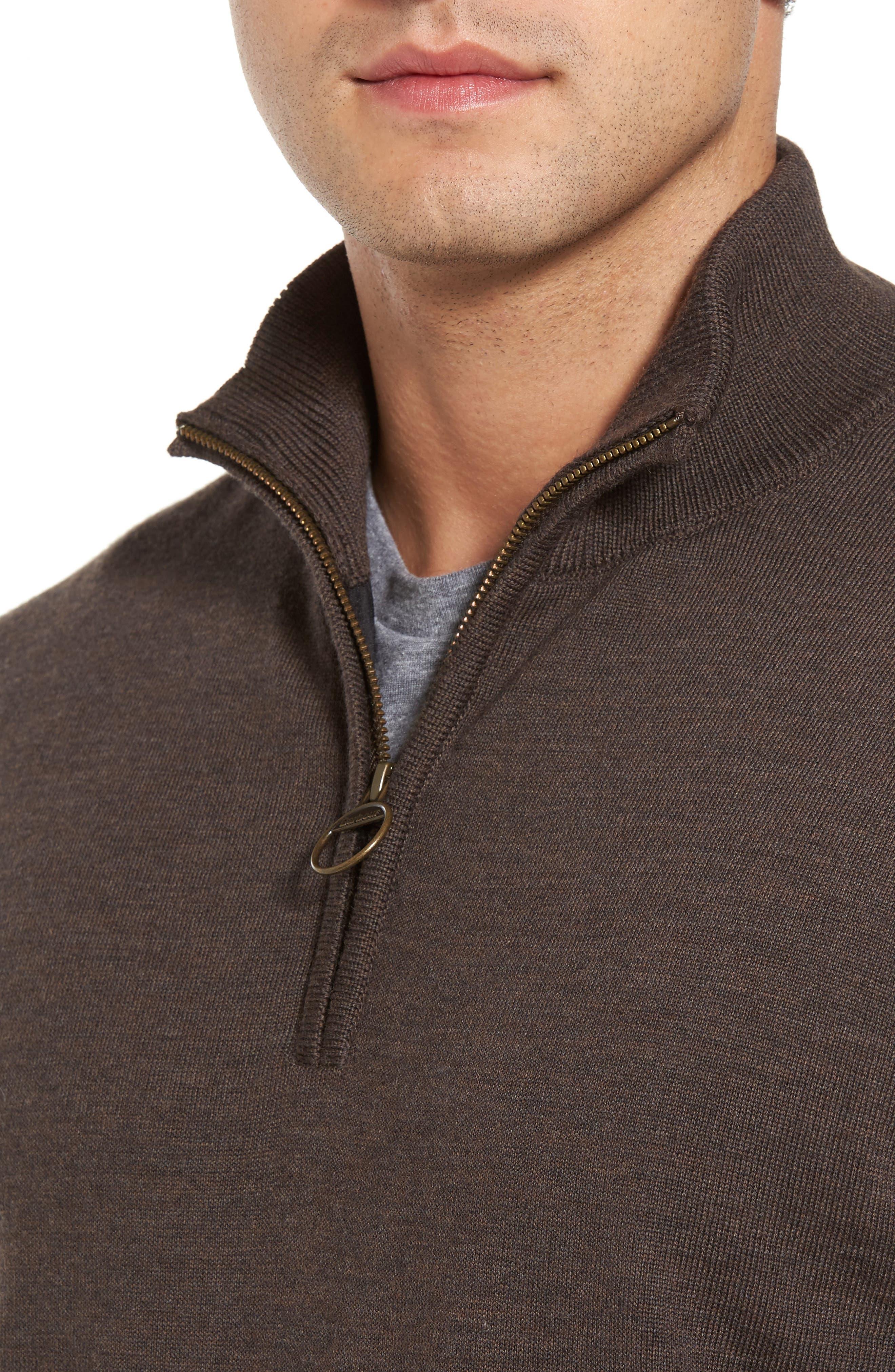 Alternate Image 4  - Barbour Gamlin Quarter Zip Wool Pullover