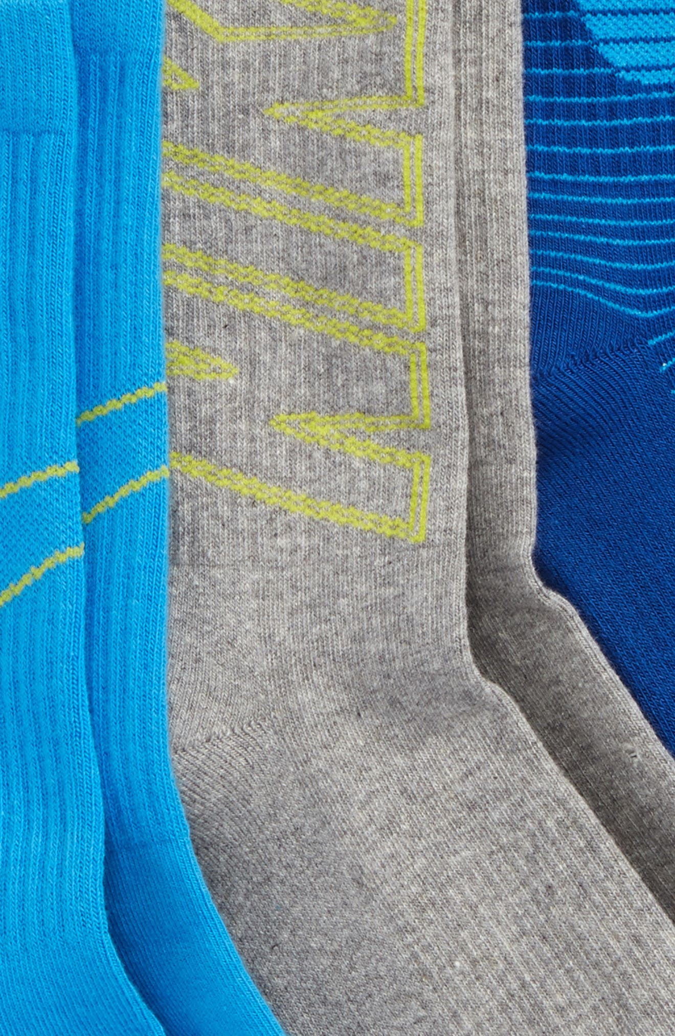 3-Pack Logo Crew Socks,                             Alternate thumbnail 2, color,                             Blue