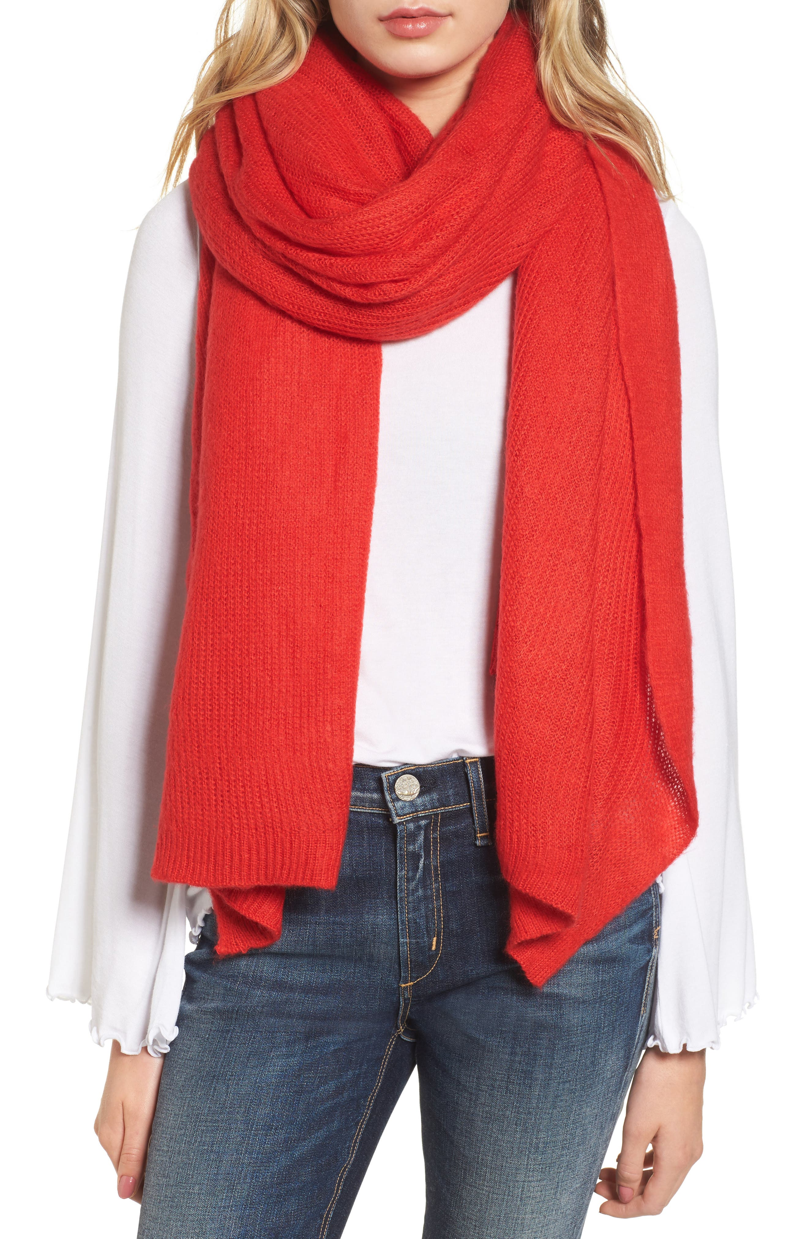 Free People Kennedy Waffle Knit Scarf