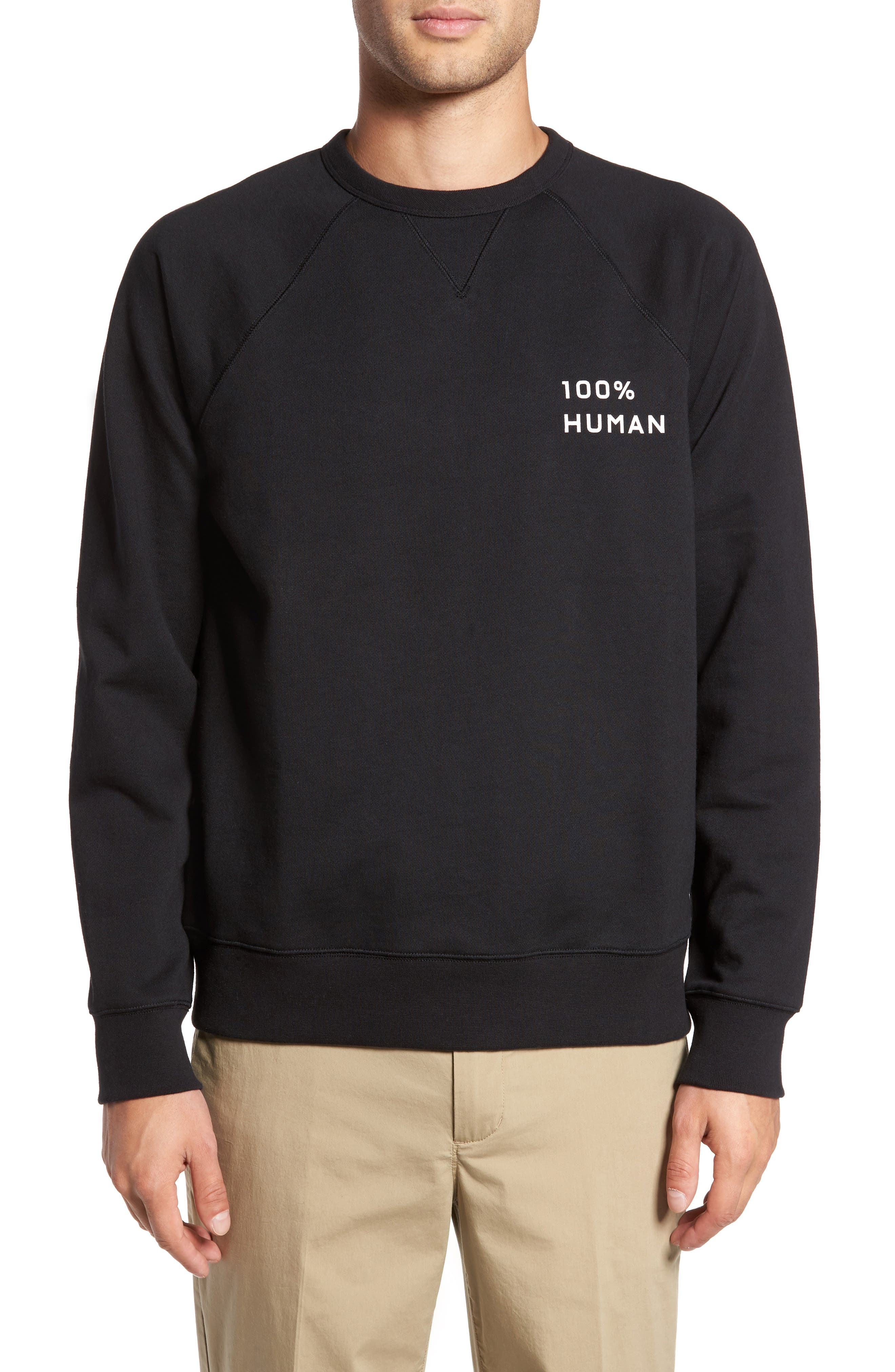 Alternate Image 1 Selected - Everlane The 100% Human Small Print Unisex French Terry Sweatshirt
