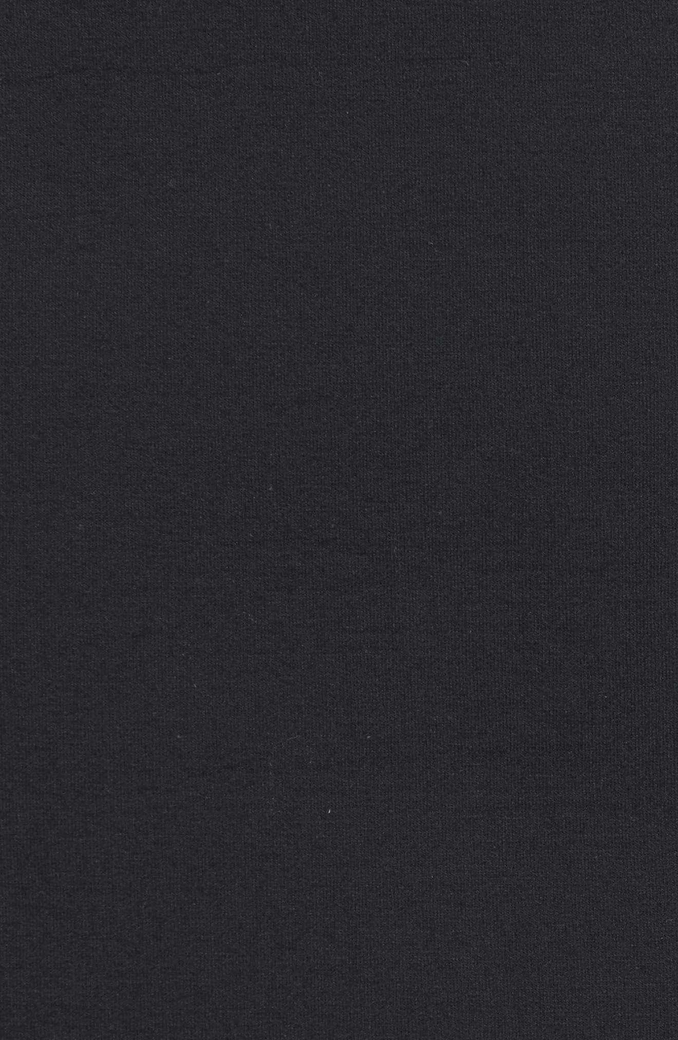 Side Zip Neoprene Skirt,                             Alternate thumbnail 5, color,                             Black