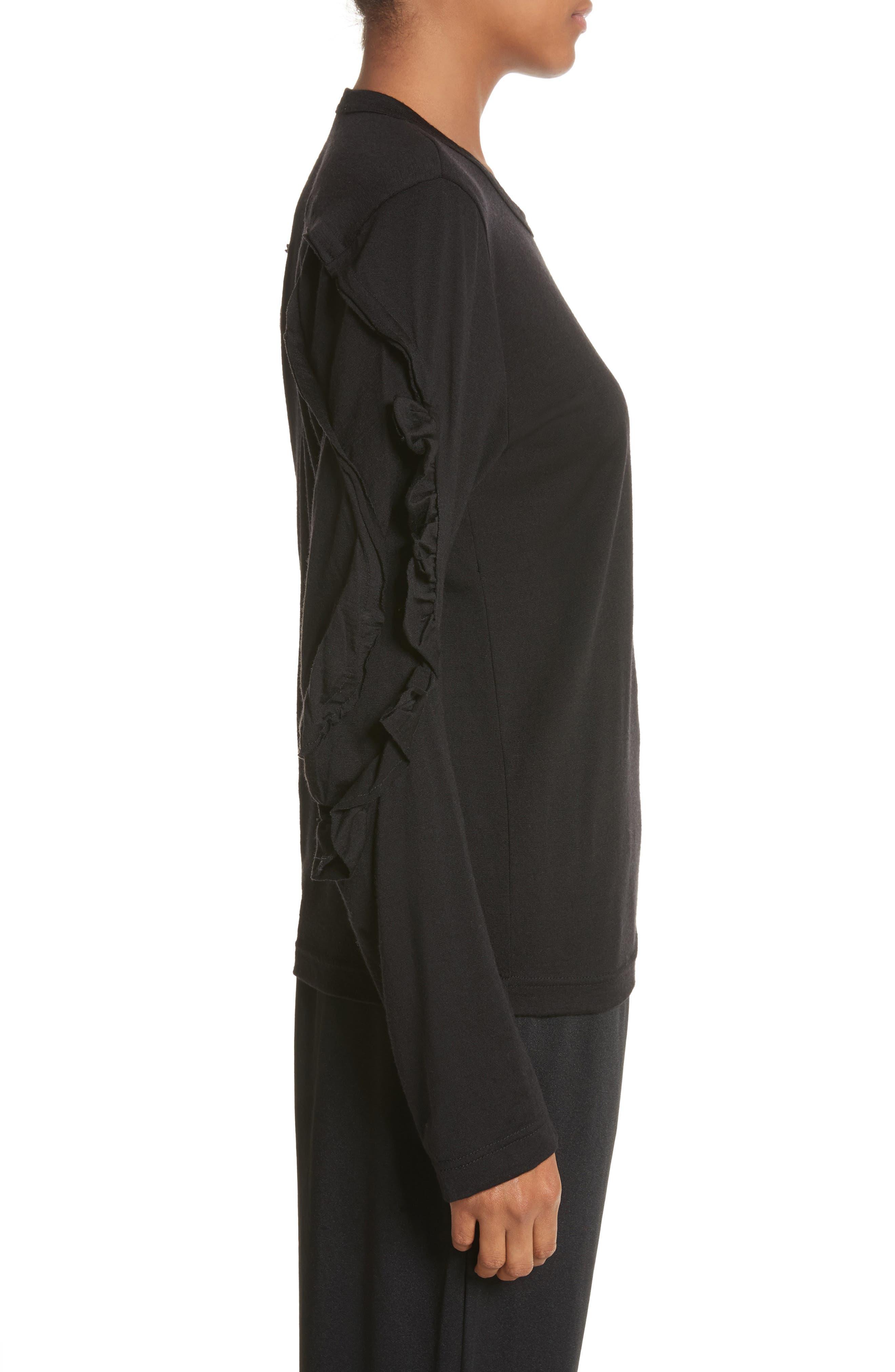 Alternate Image 3  - Comme des Garçons Ruffle Sleeve Wool Top