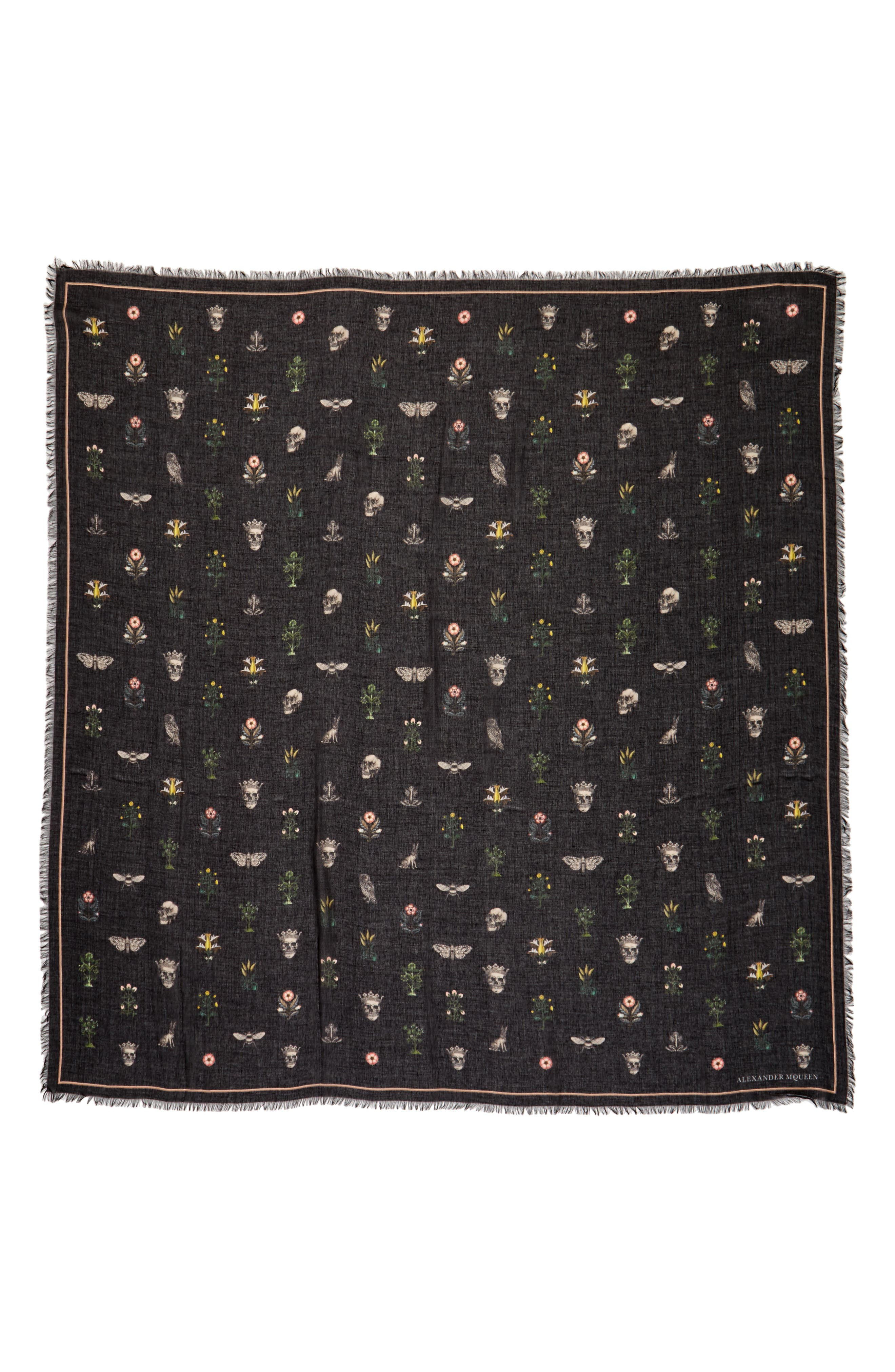Alternate Image 1 Selected - Alexander McQueen Medieval Flower Pashmina
