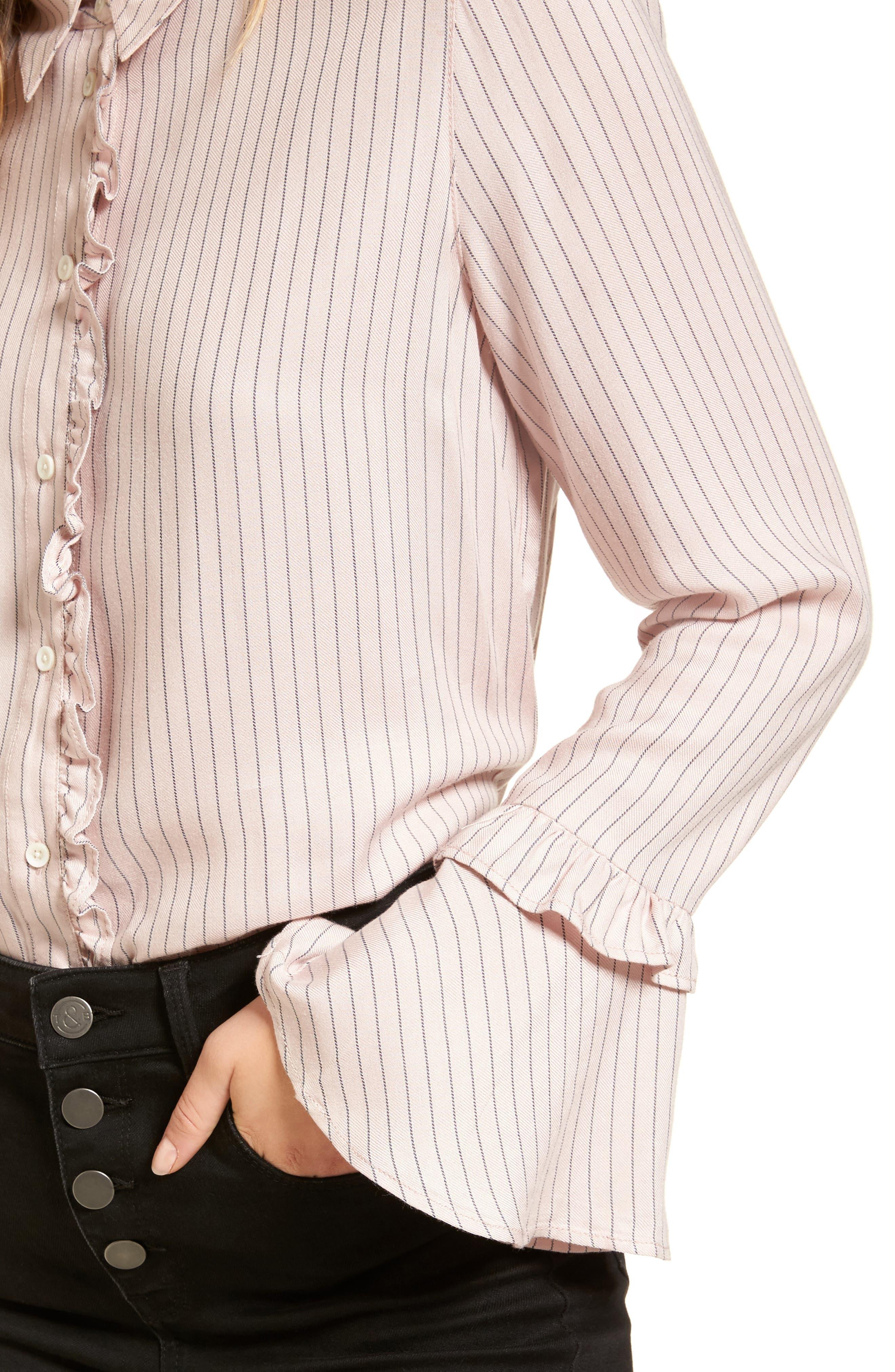 Alternate Image 6  - Treasure & Bond Bell Sleeve Shirt