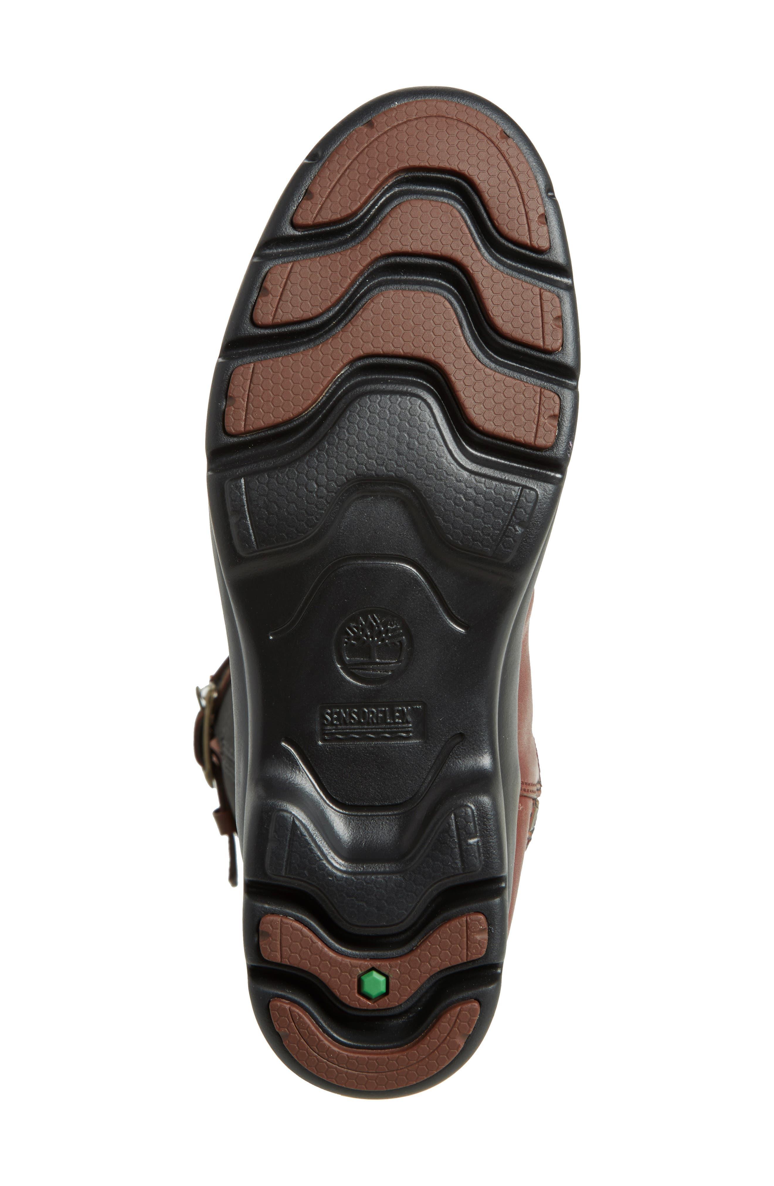 Turain Tall Waterproof Boot,                             Alternate thumbnail 6, color,                             Medium Brown Leather