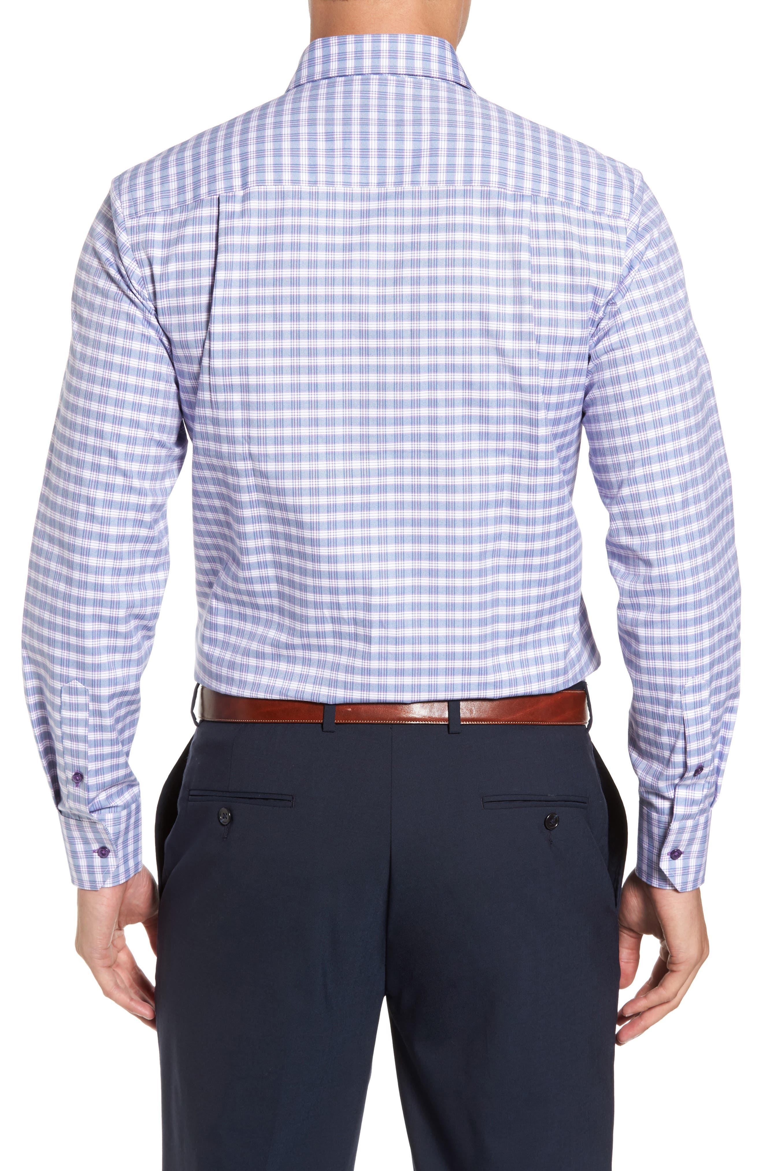 Check Regular Fit Sport Shirt,                             Alternate thumbnail 2, color,                             Blue/ Purple