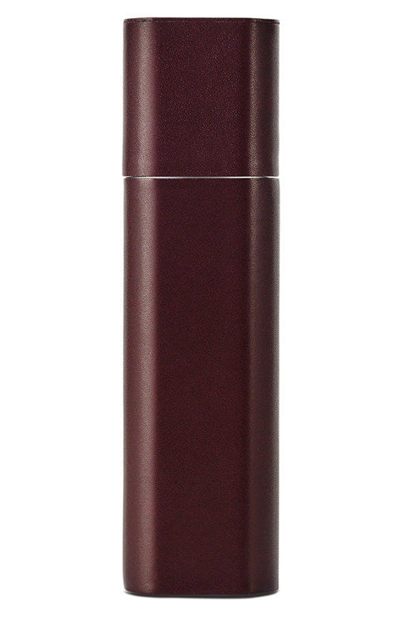 BYREDO Nécessaire de Voyage Leather Travel Case in Burgundy