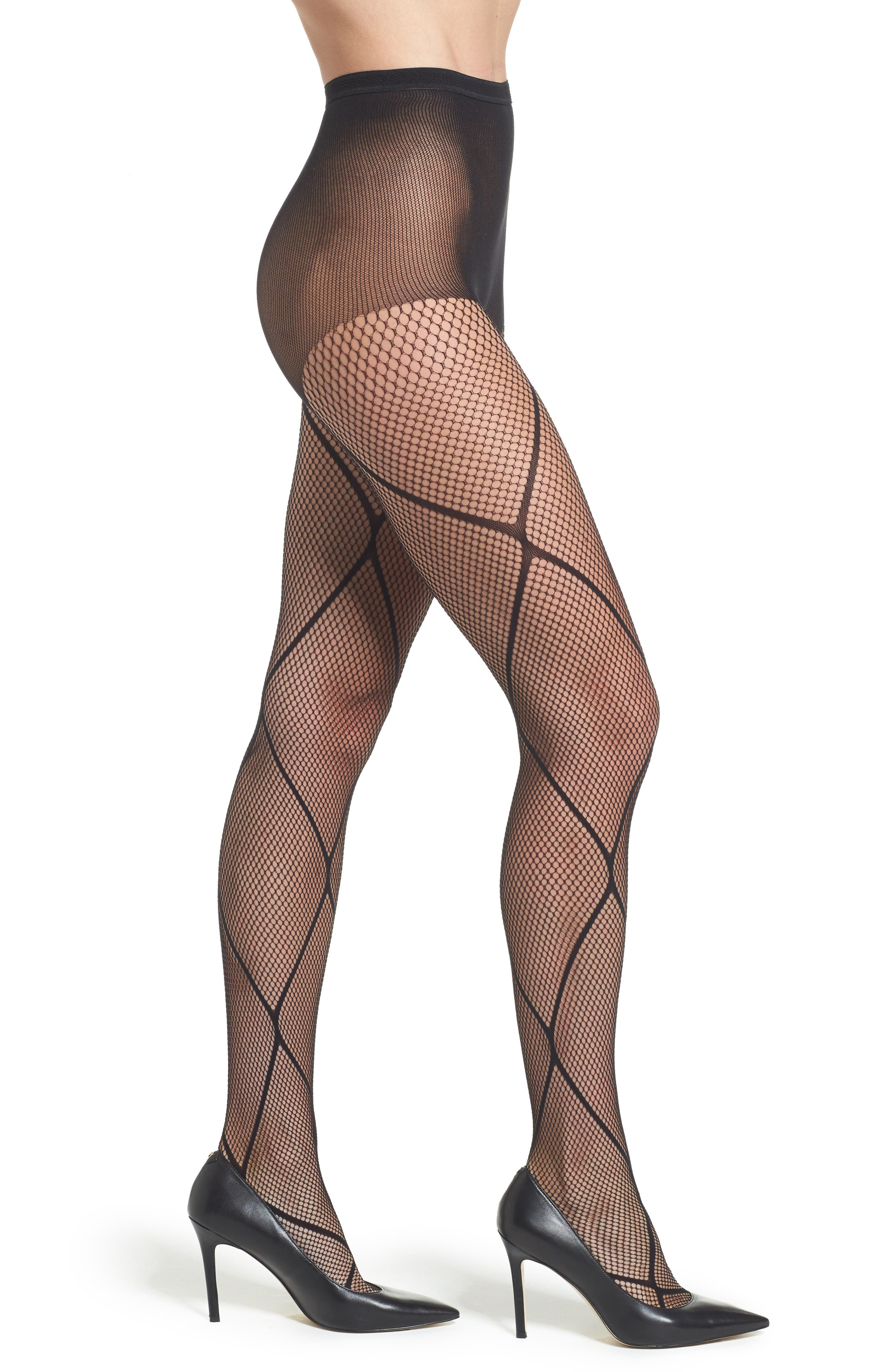 Alternate Image 1 Selected - Pretty Polly Diamond Fishnet Tights