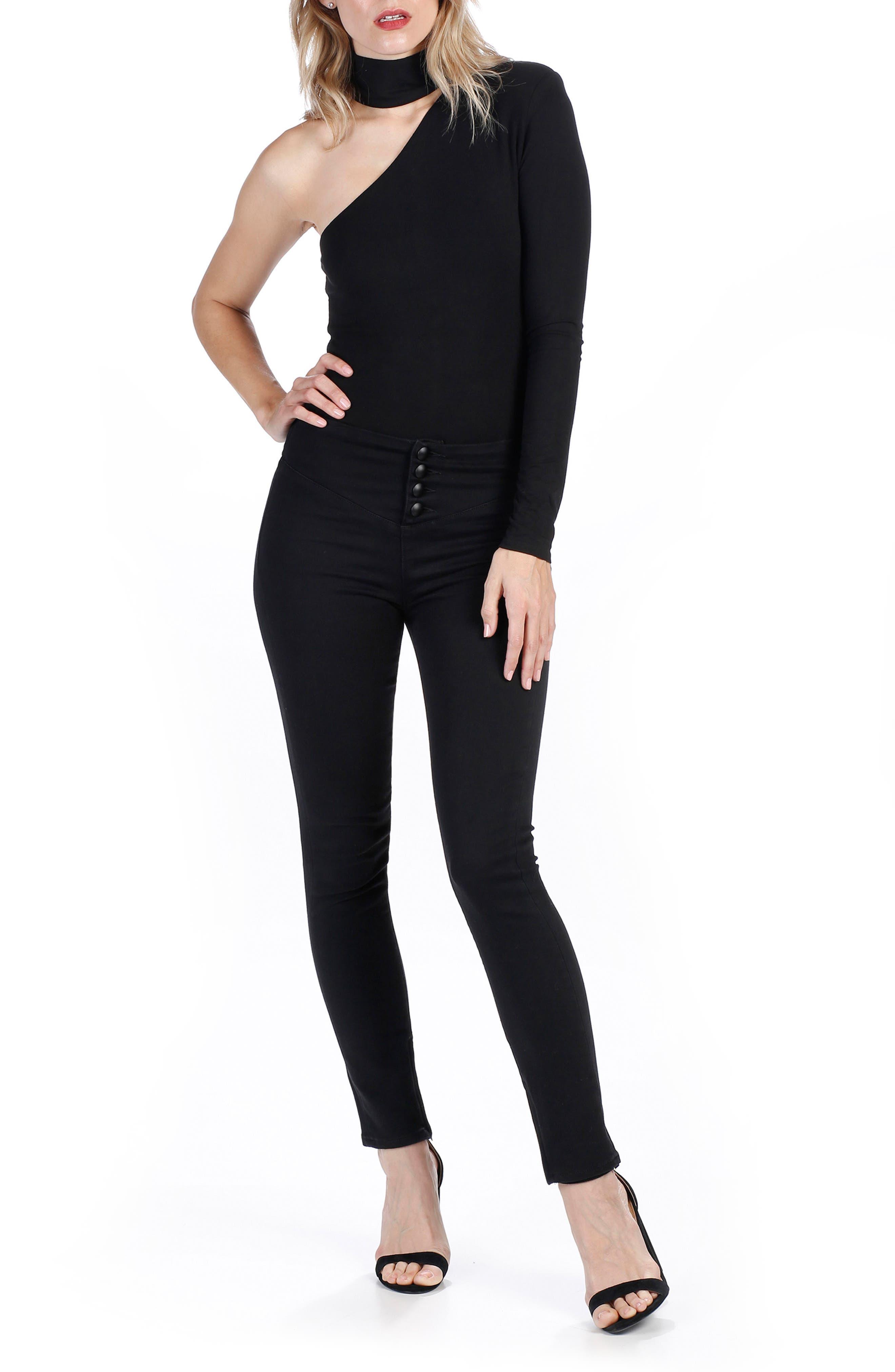 Rosie HW x PAIGE Ellery Skinny Jeans,                             Alternate thumbnail 2, color,                             Onyx