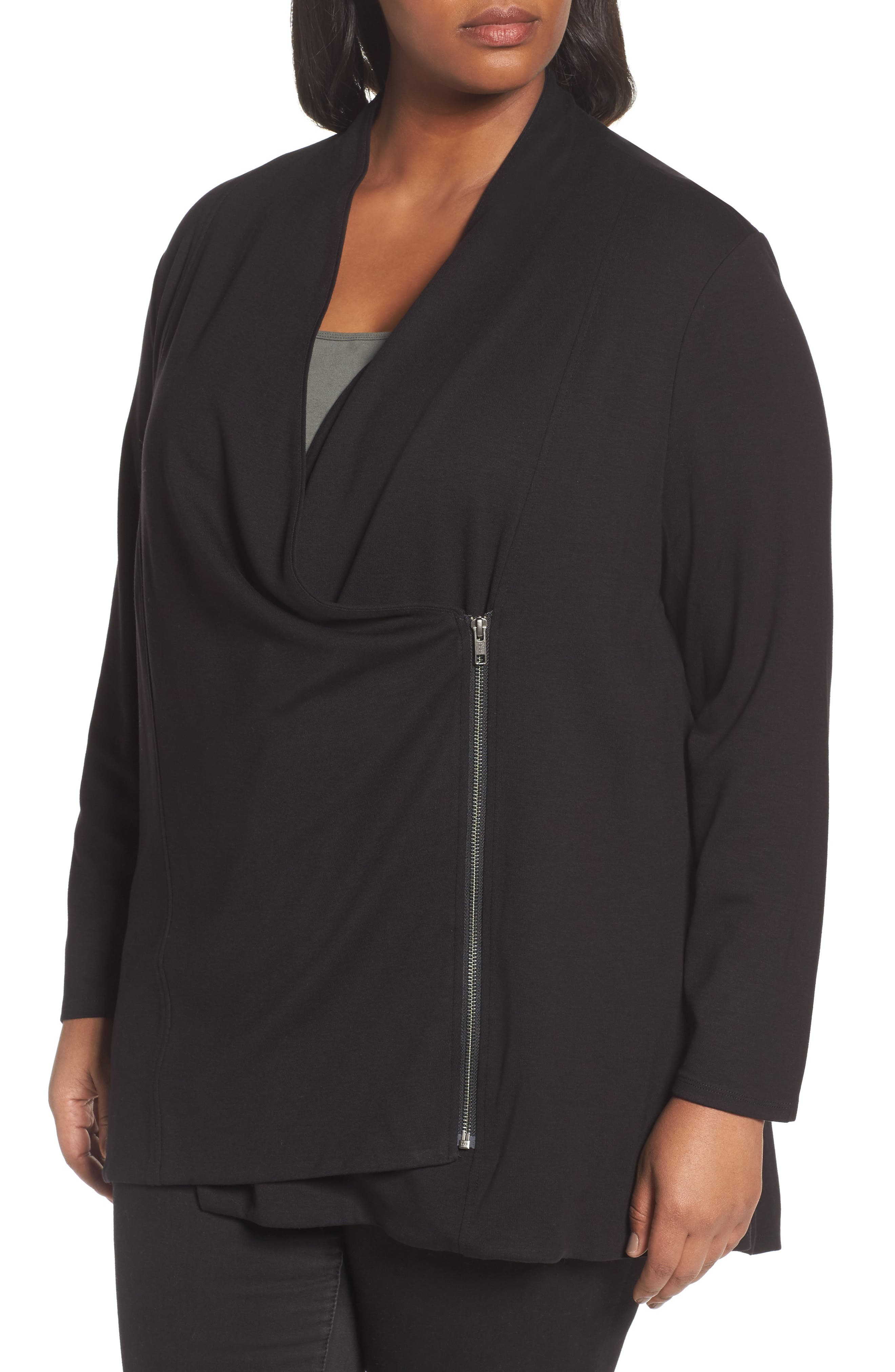 Alternate Image 4  - NIC+ZOE Studio Asymmetrical Zip Jacket (Plus Size)